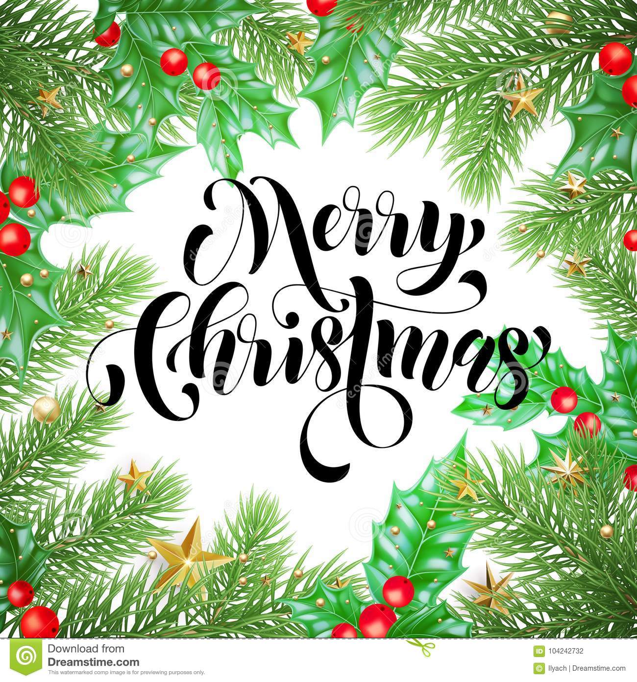 Merry christmas holiday hand drawn quote calligraphy greeting card merry christmas holiday hand drawn quote calligraphy greeting card background template vector christmas tree or maxwellsz