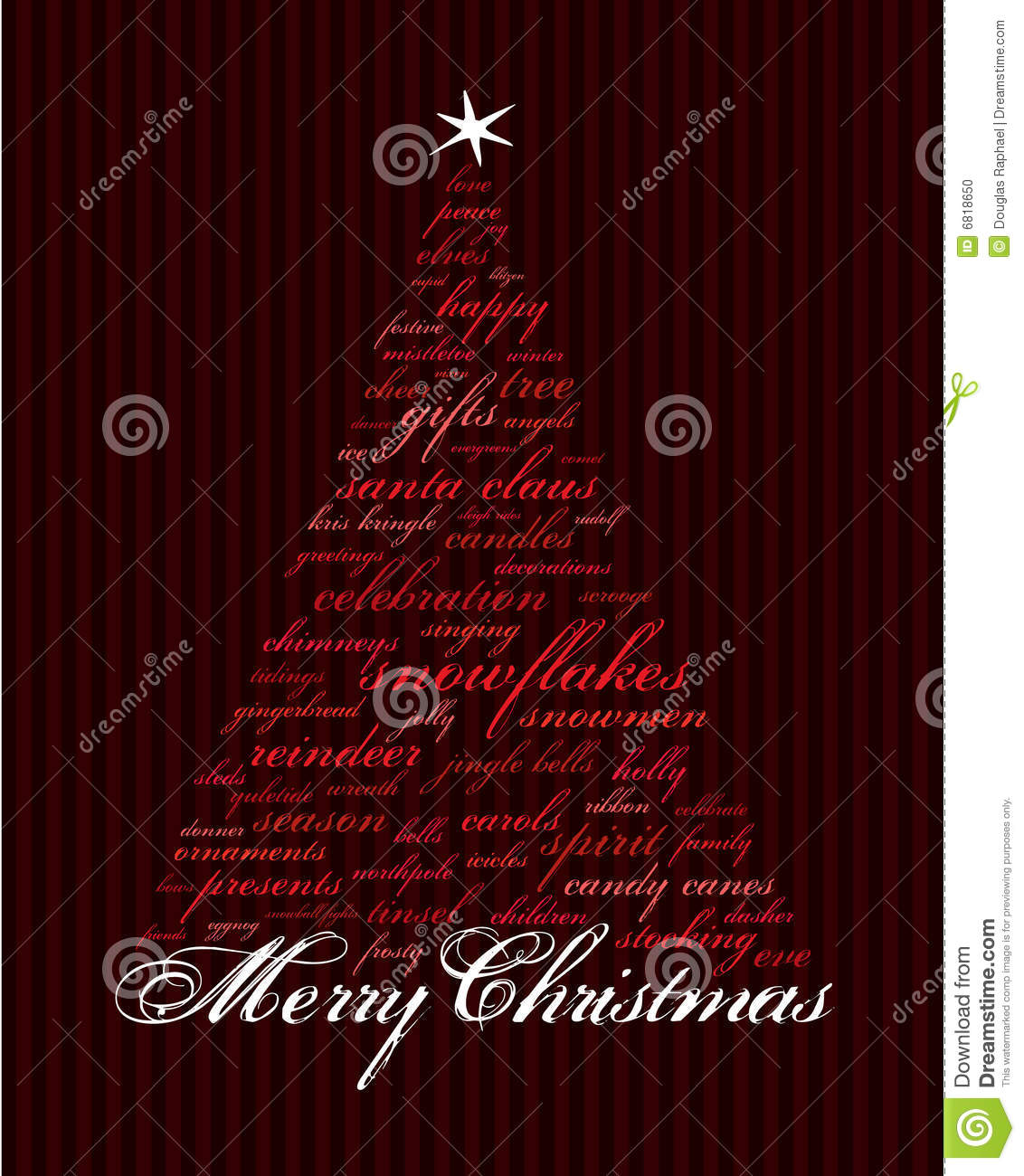 merry christmas holiday words stock vector