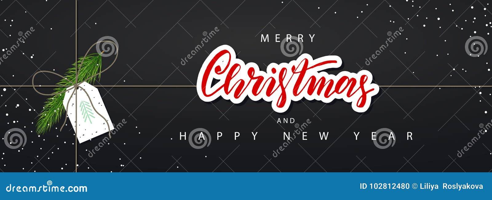 Merry christmas horizontal banner vector illustration happy new download merry christmas horizontal banner vector illustration happy new year concept season greetings m4hsunfo
