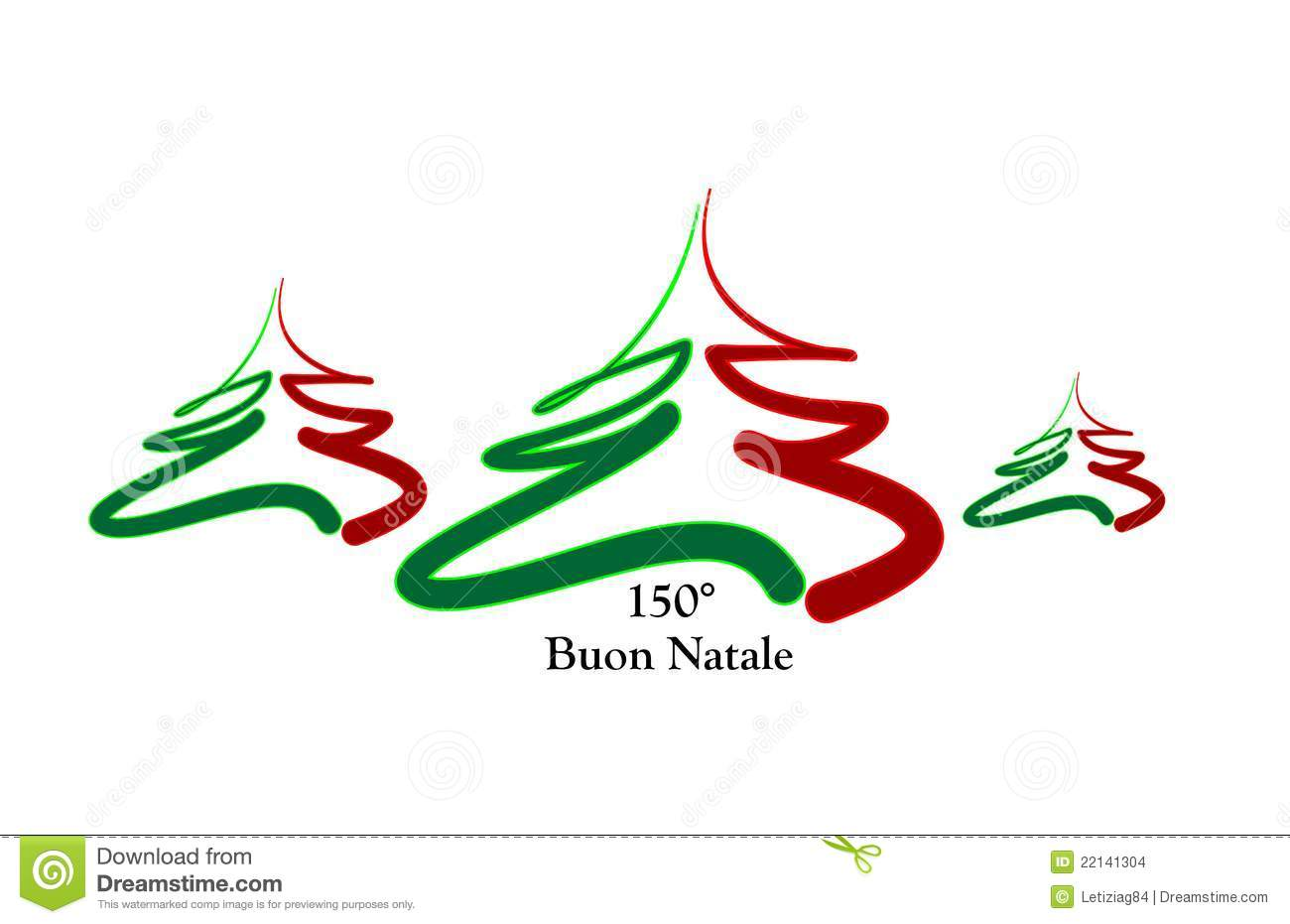 Merry Christmas Italy stock vector. Illustration of green - 22141304
