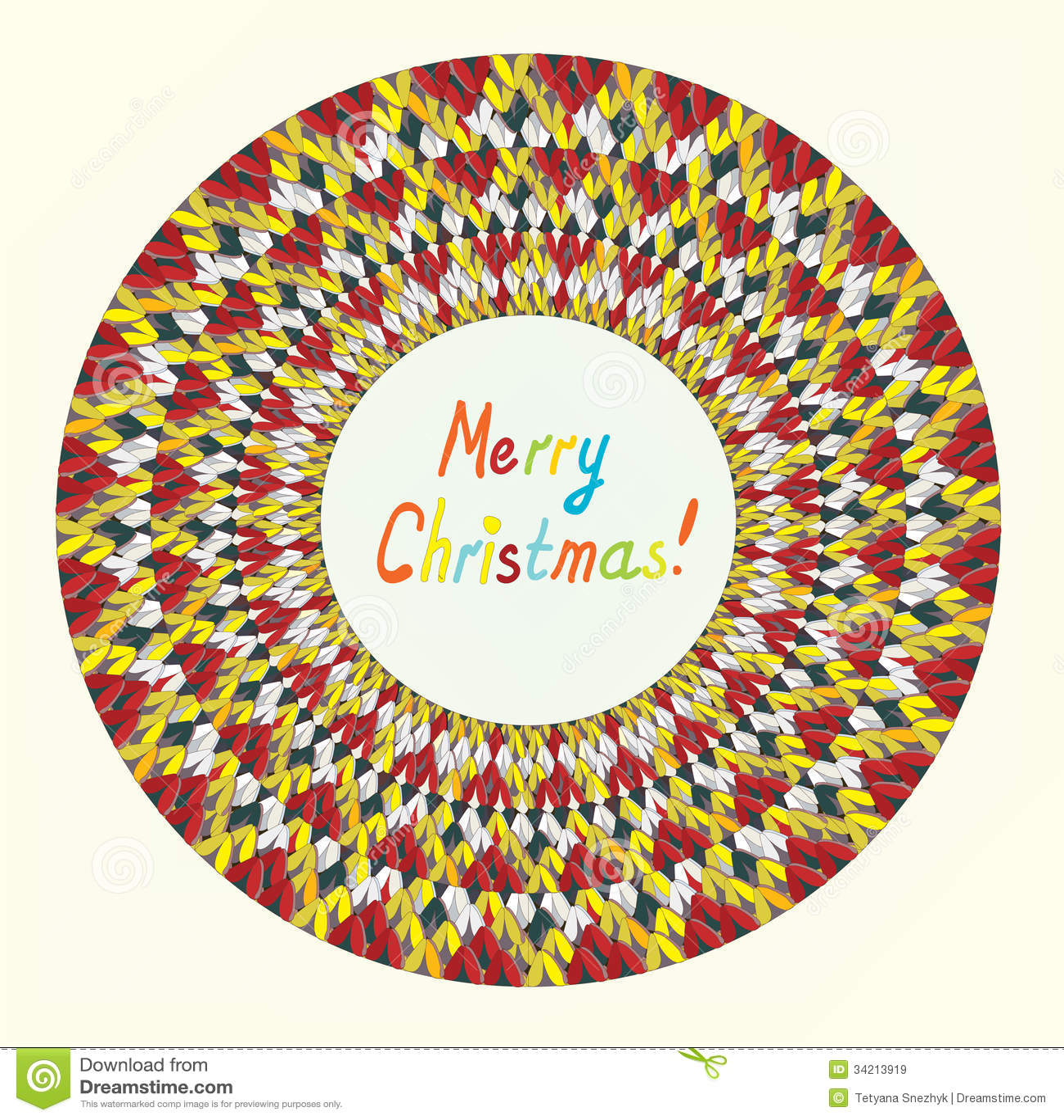 Knitting Happy Birthday Card : Merry christmas knitting greeting card stock vector