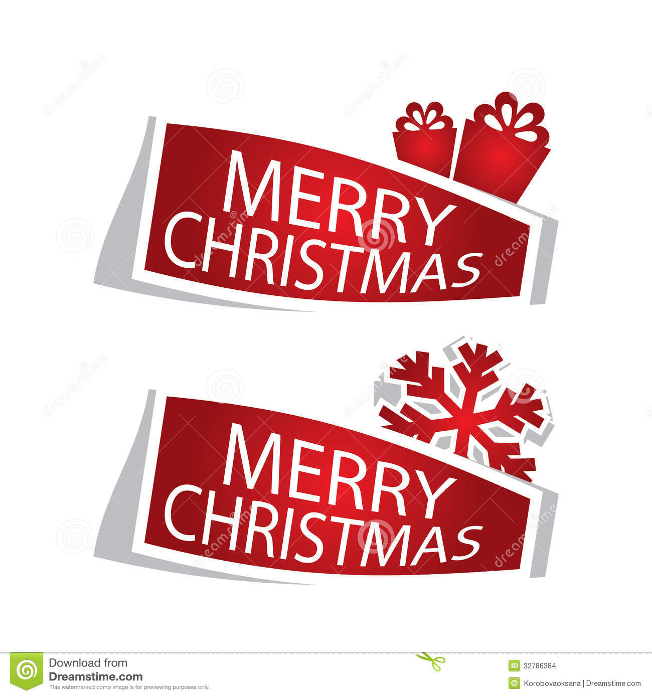 Merry Christmas Labels Stock Images - Image: 32786384