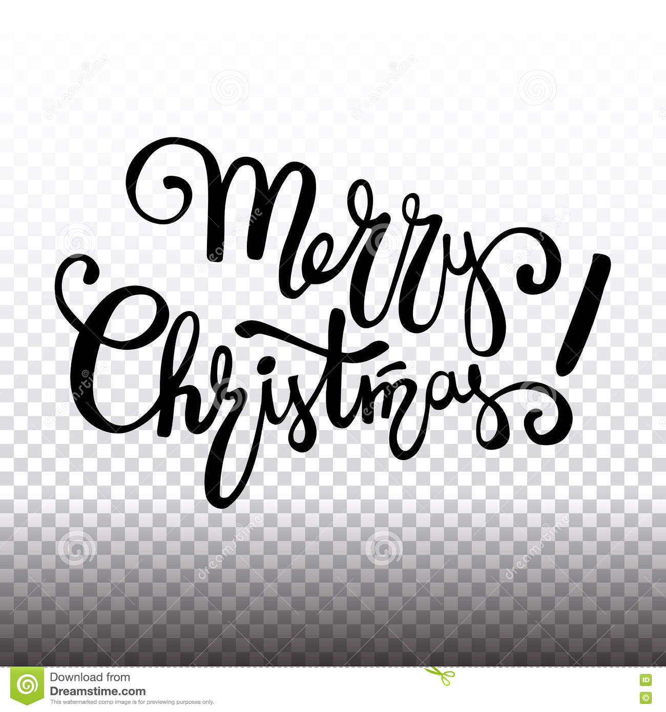 Merry Christmas Lettering Design, Handwriting Text. Vector ...