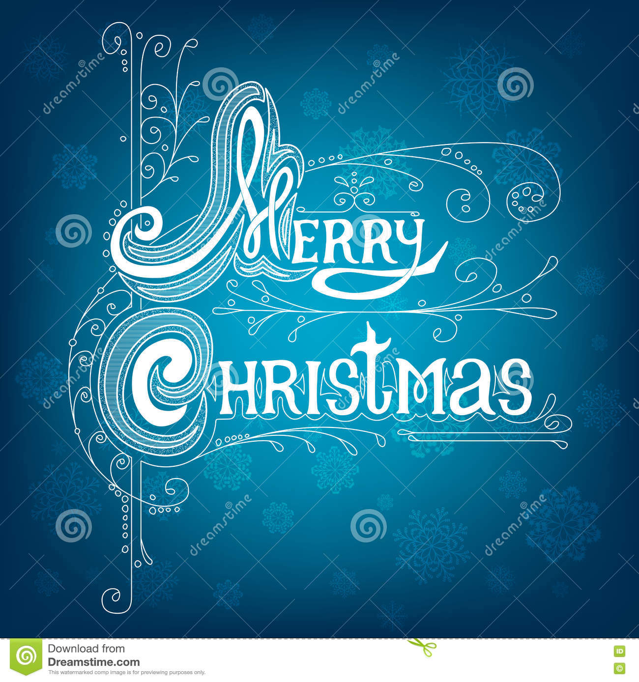 Merry Christmas Lettering Design Message Stock Vector