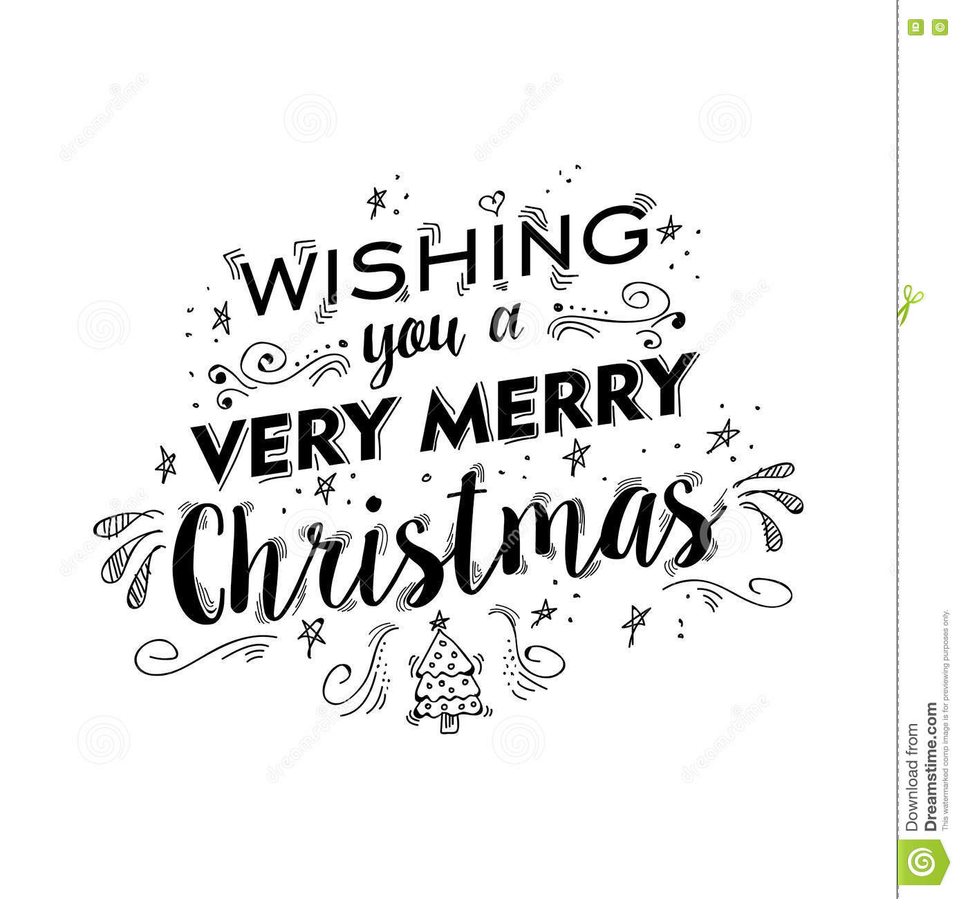 Merry Christmas Lettering Design With Text Quote Stock Vector ...