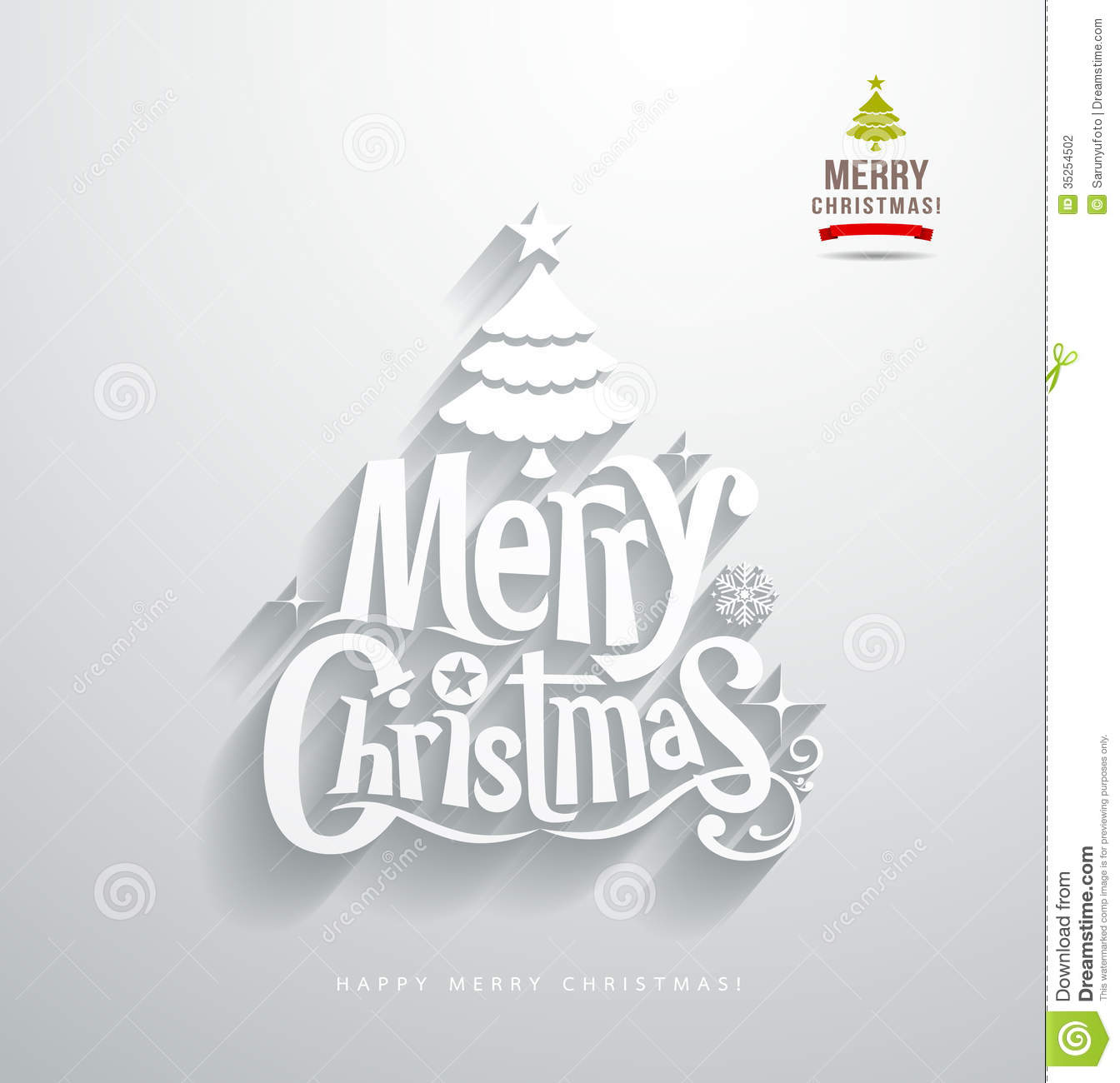 merry christmas lettering paper cut stock vector illustration of