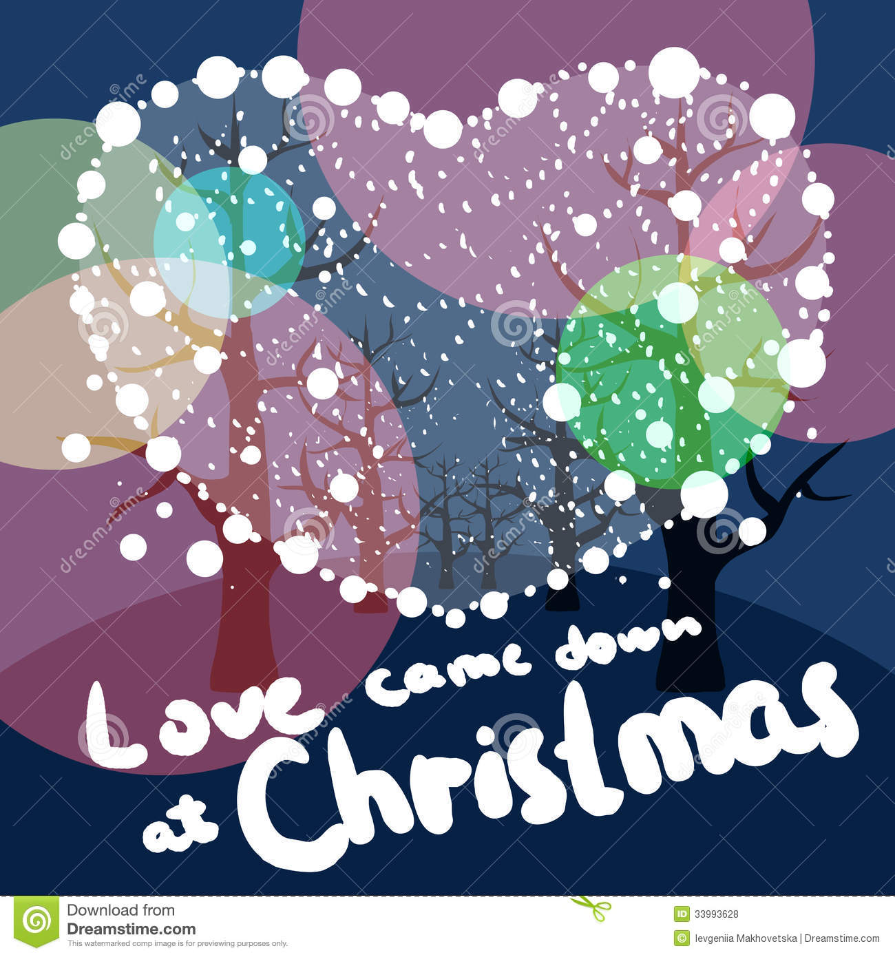 Merry Christmas love stock illustration. Illustration of decoration ...