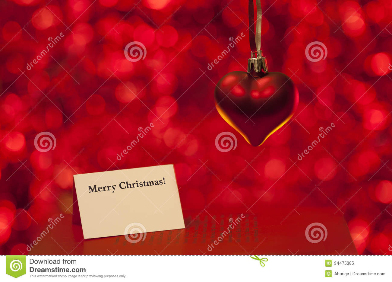 Merry Christmas Love Card Stock Image Image Of Star 34475385