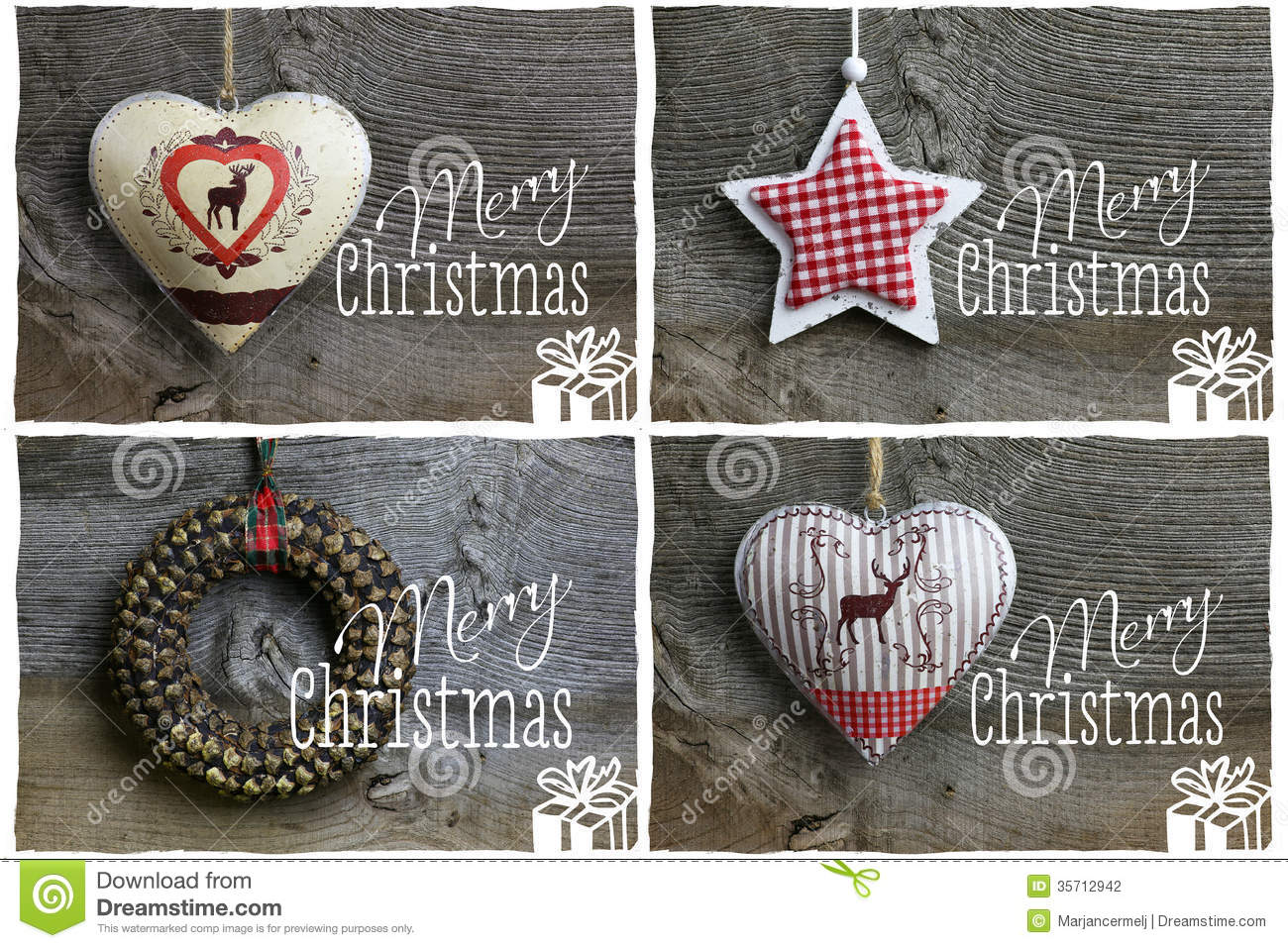 Merry Christmas Message, Decoration Pinecone Wreath, Tin Hearth ...
