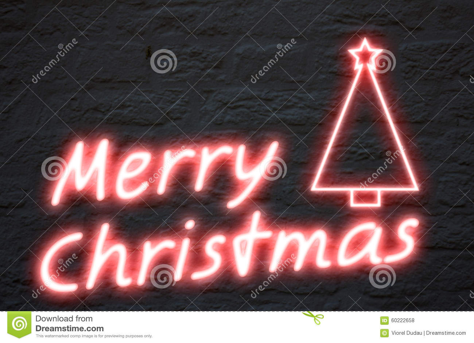 merry christmas neon lights stock illustration