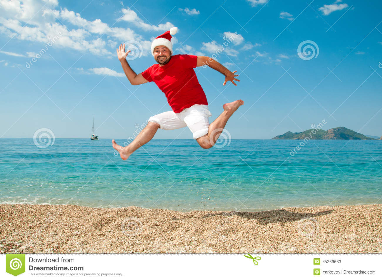 merry christmas and the new year on the beach - Merry Christmas Beach Images