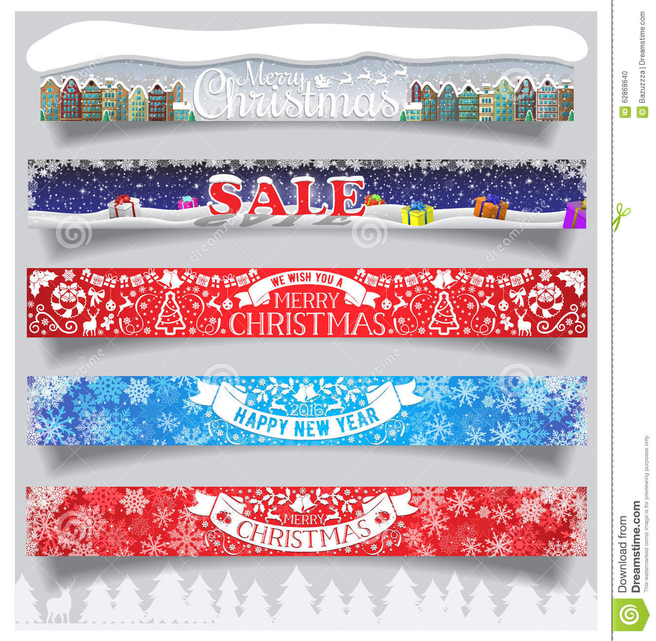 Winter Sale Banners Diy Wall Banners