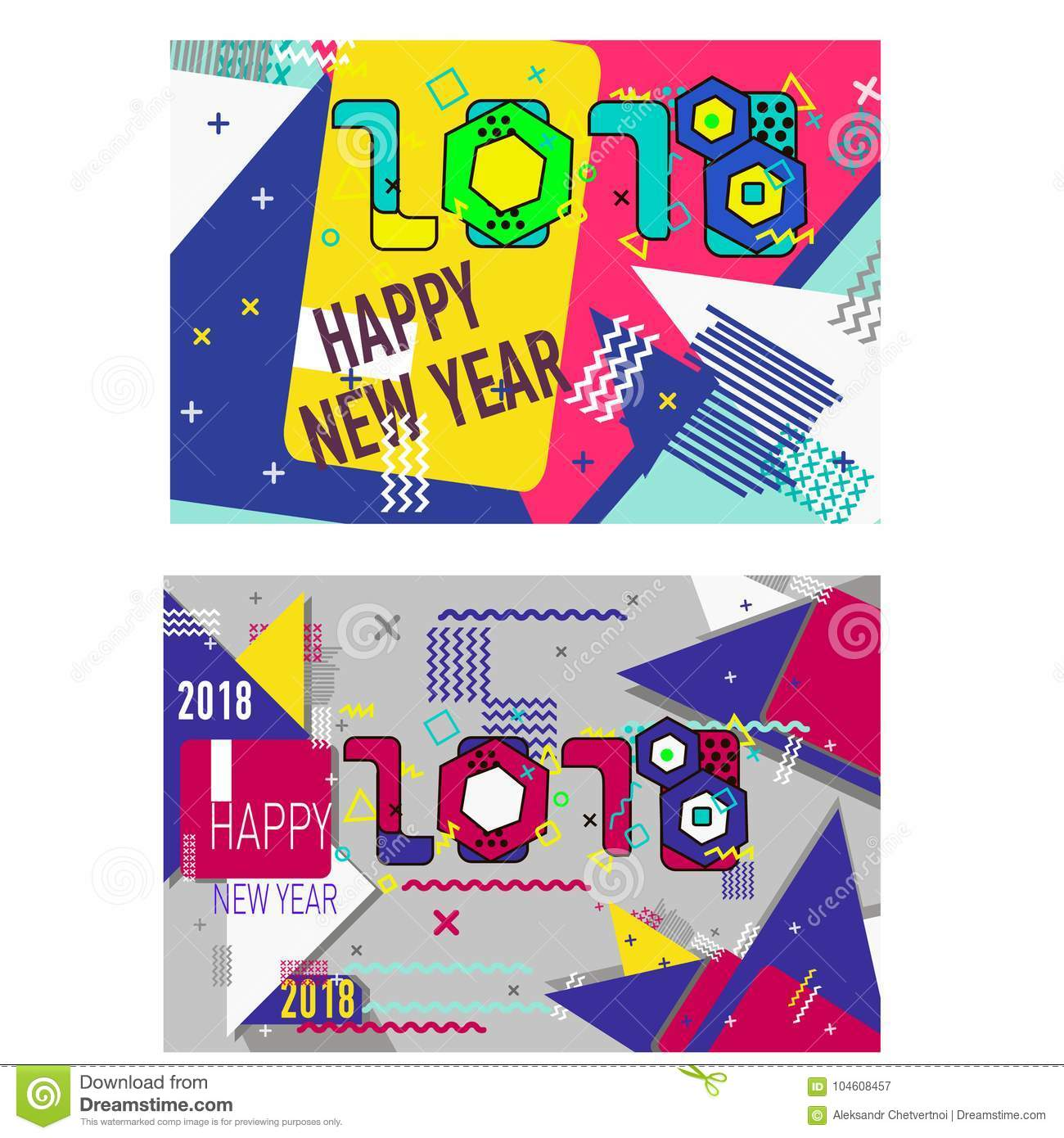 merry christmas new year design eye catching banner template