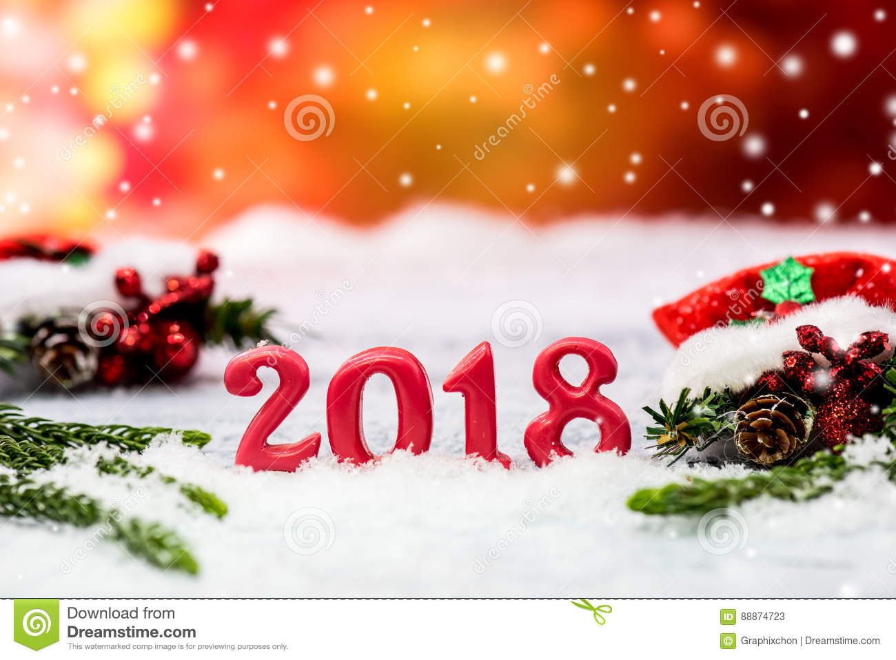 merry christmas and new year 2018 stock image image of winter