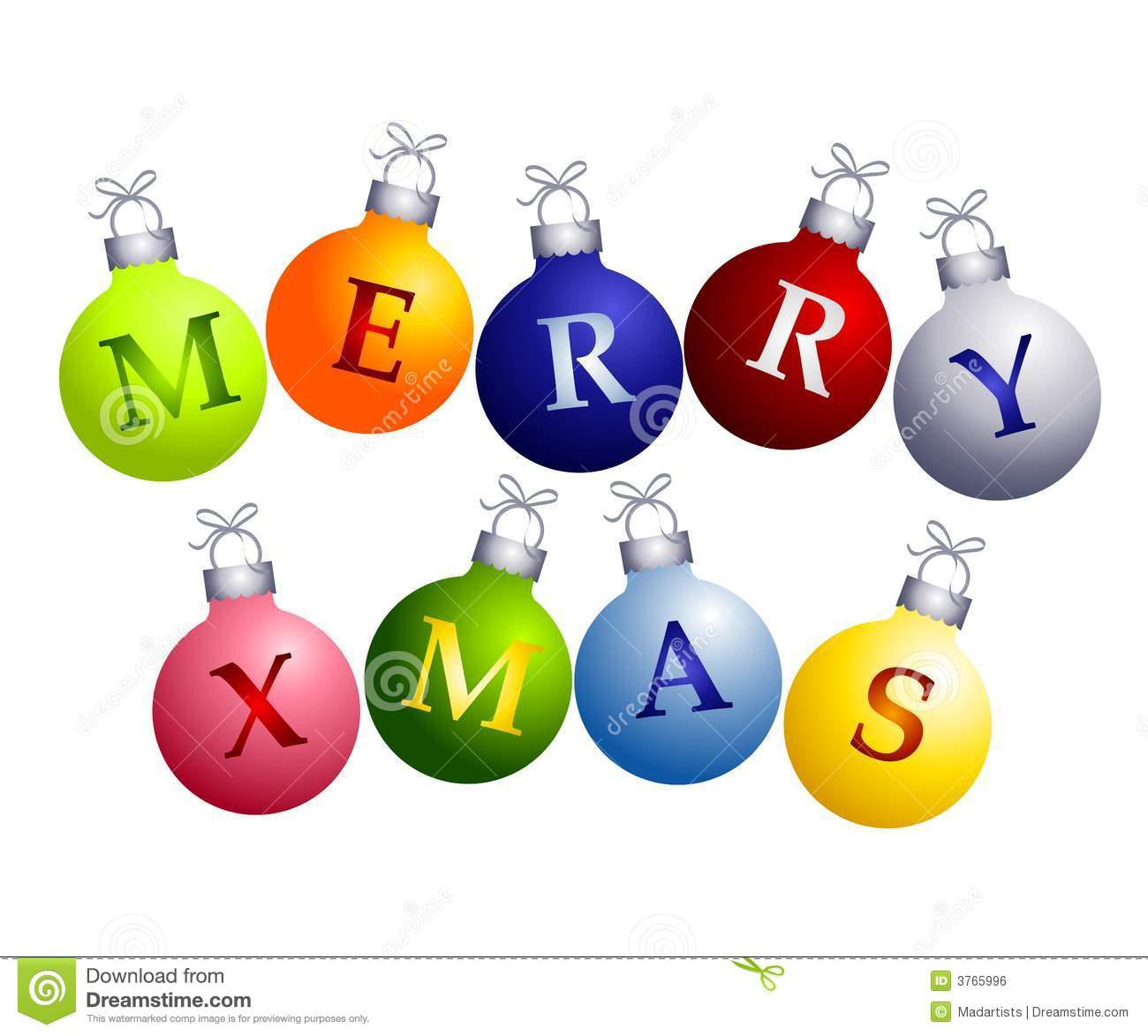 Merry Christmas Decorations merry christmas on ornaments royalty free stock image - image: 3765996