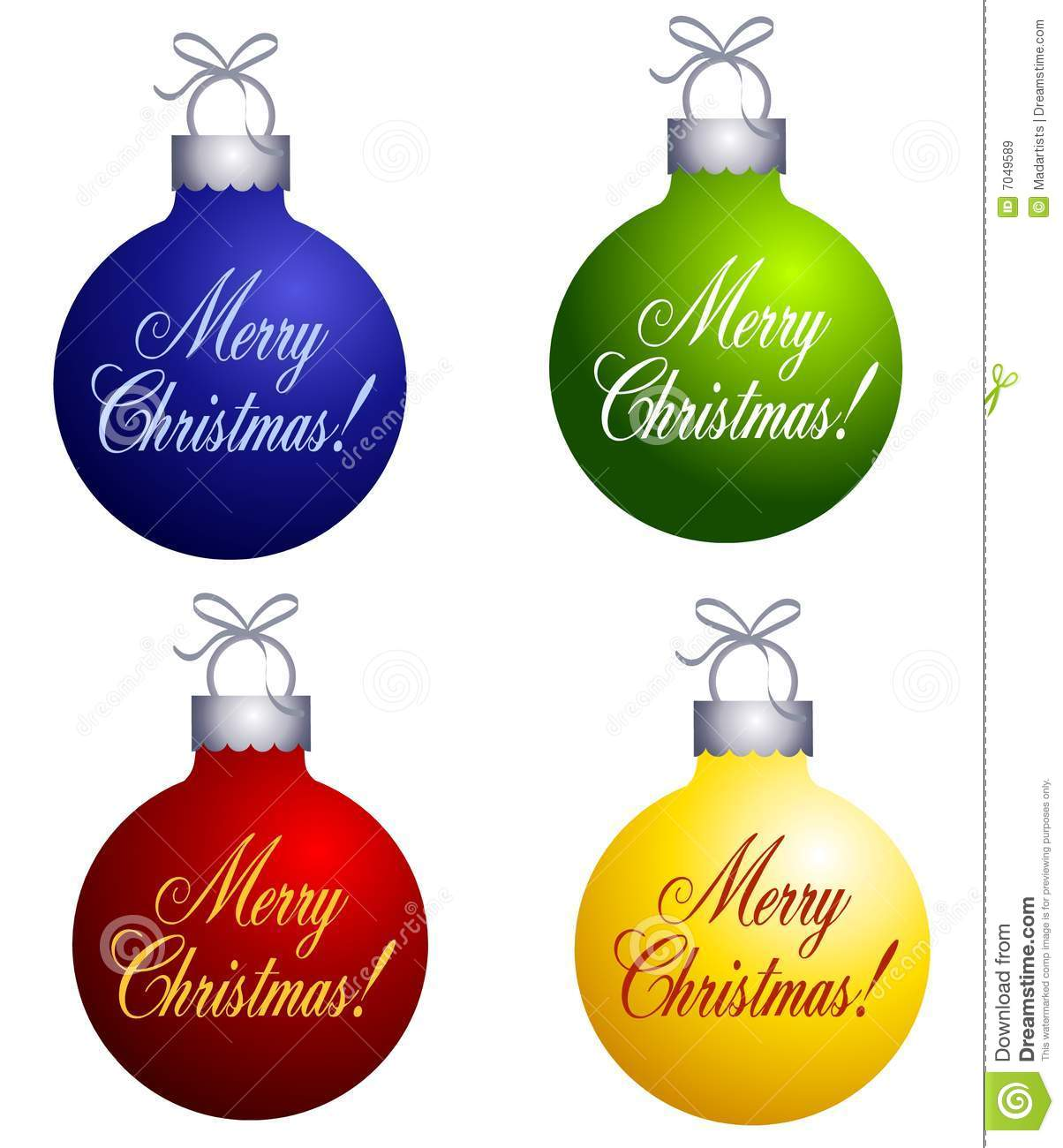 Merry Christmas Ornaments: Merry Christmas Ornaments Stock Illustration. Image Of