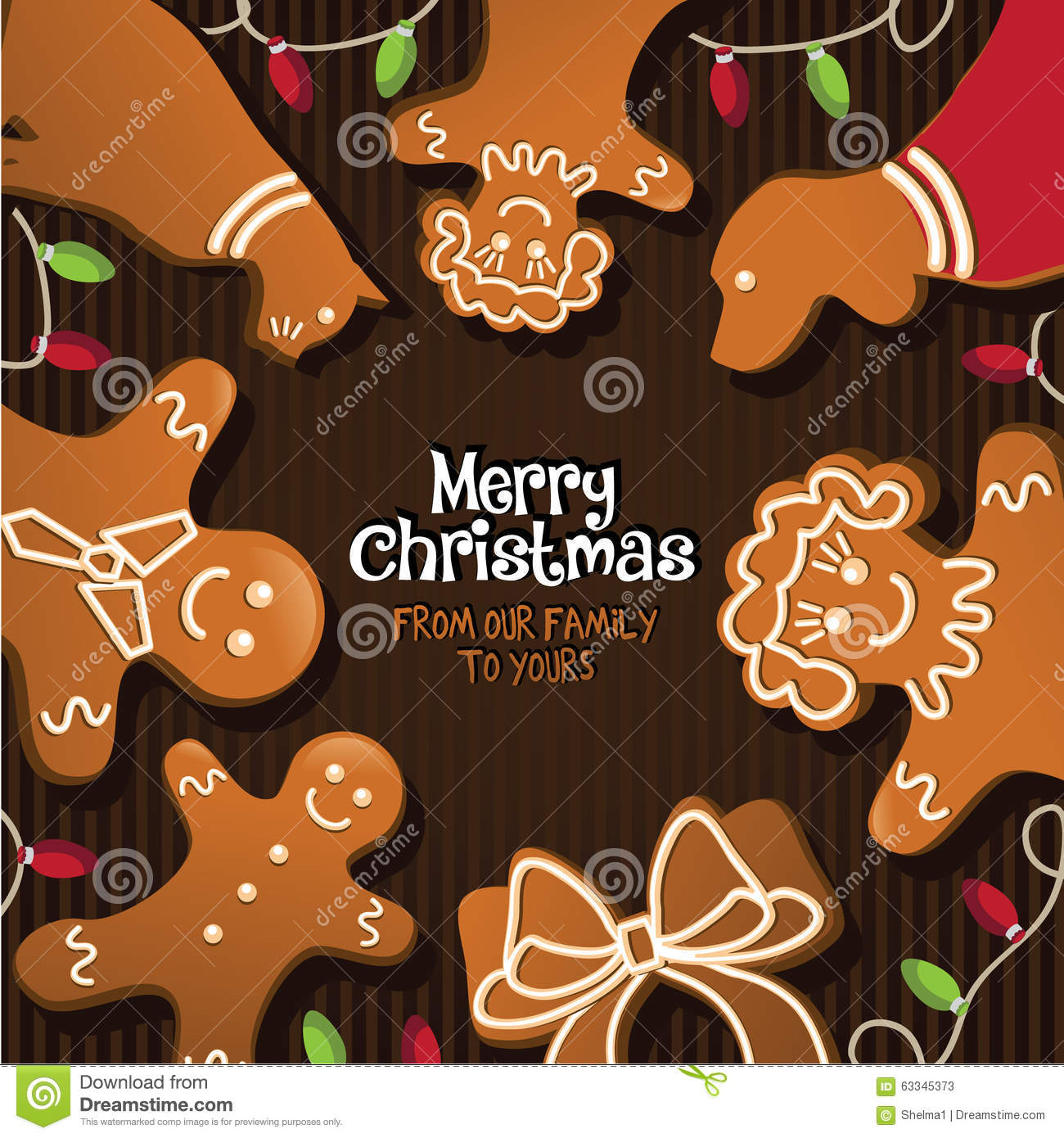 download merry christmas from our family to yours stock vector illustration of baked royalty