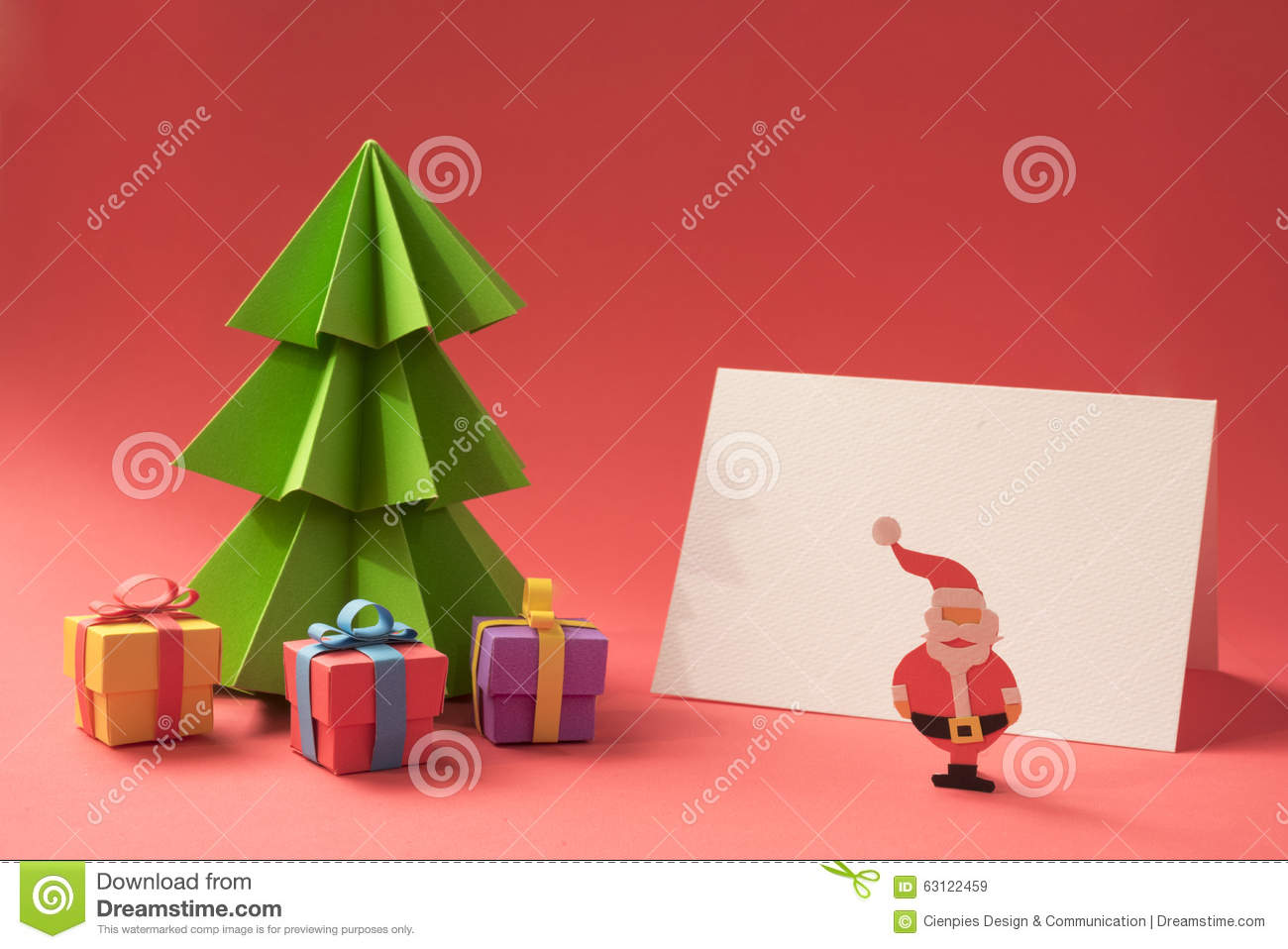 merry christmas paper cut handmade card template stock photo merry christmas paper cut handmade card template