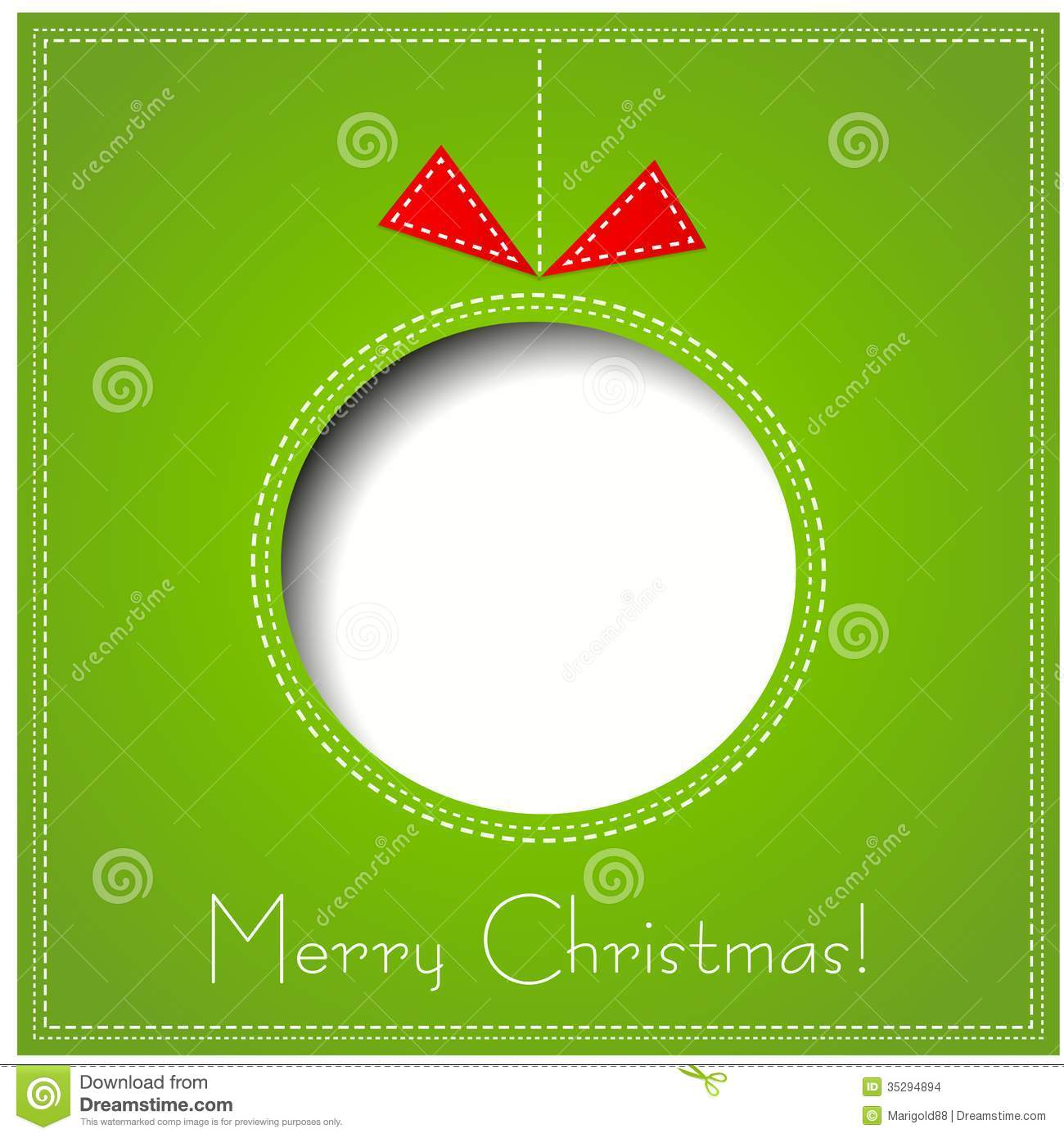 Greeting Card Merry Christmas Stock: Merry Christmas Paper Greeting Card Stock Vector