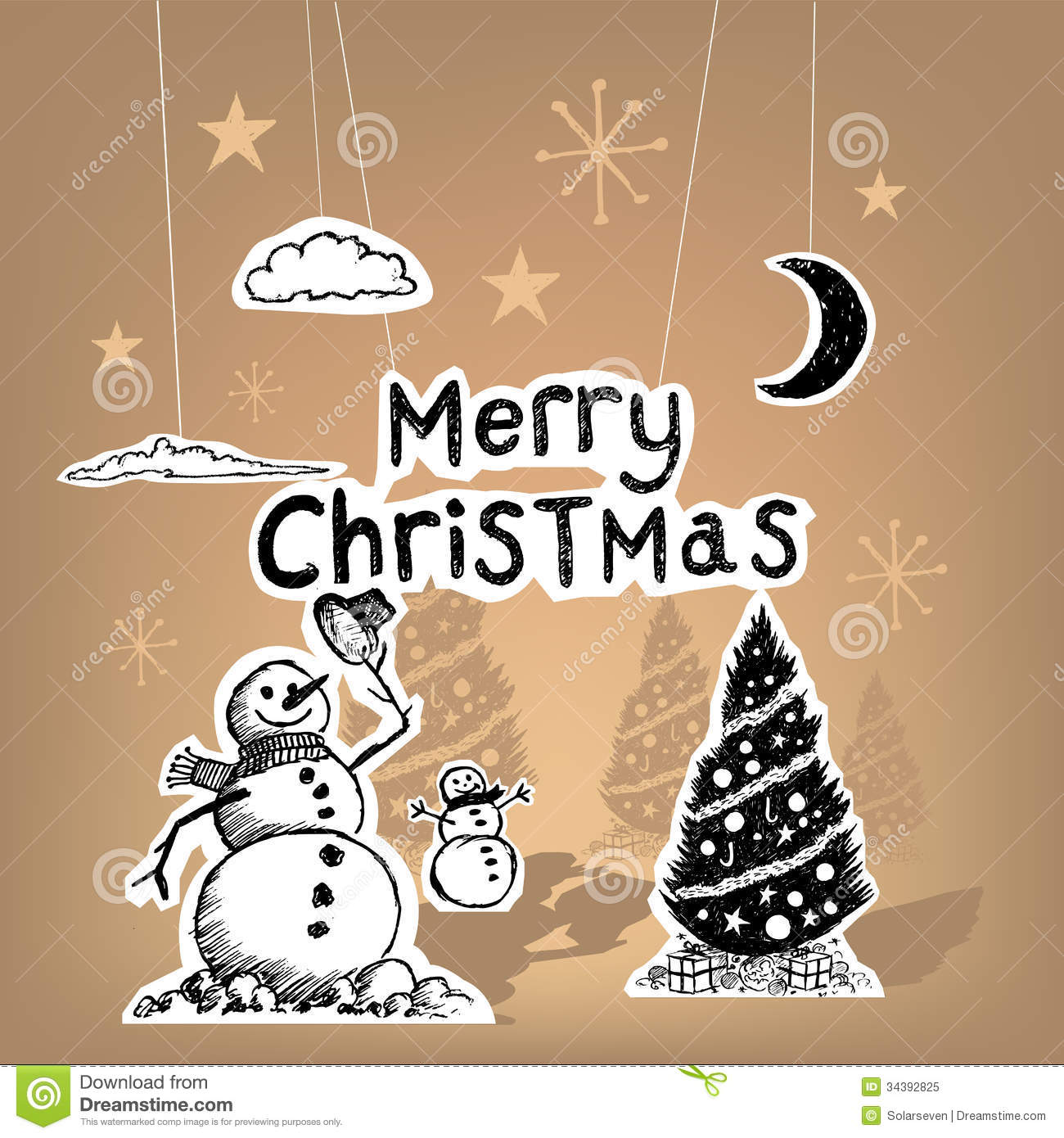 Merry Christmas Paper Royalty Free Stock Photo - Image ...