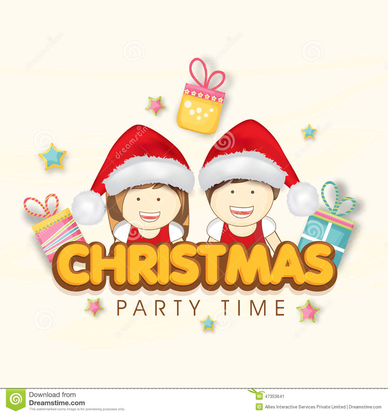 Merry christmas party celebration invitation card design stock merry christmas party celebration invitation card design kristyandbryce Image collections