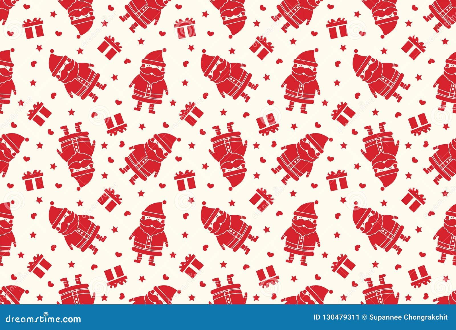 Merry Christmas Pattern Seamless Christmas Tree Background Red Xmas Wallpaper Stock Illustration Illustration Of Christmas Decoration 130479311