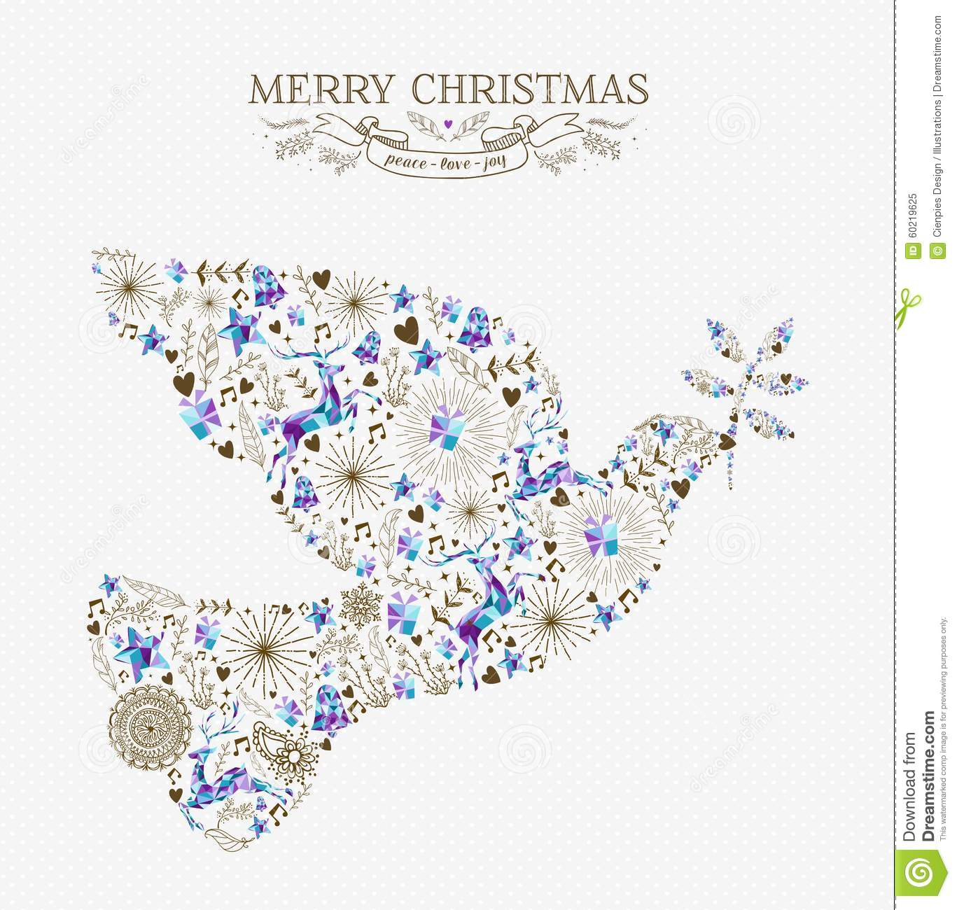 Dove Of Peace Christmas Cards