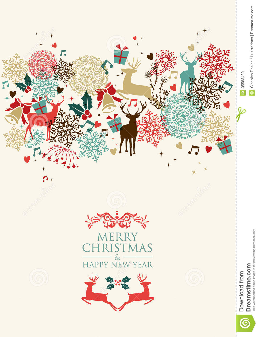 merry christmas postal card transparency