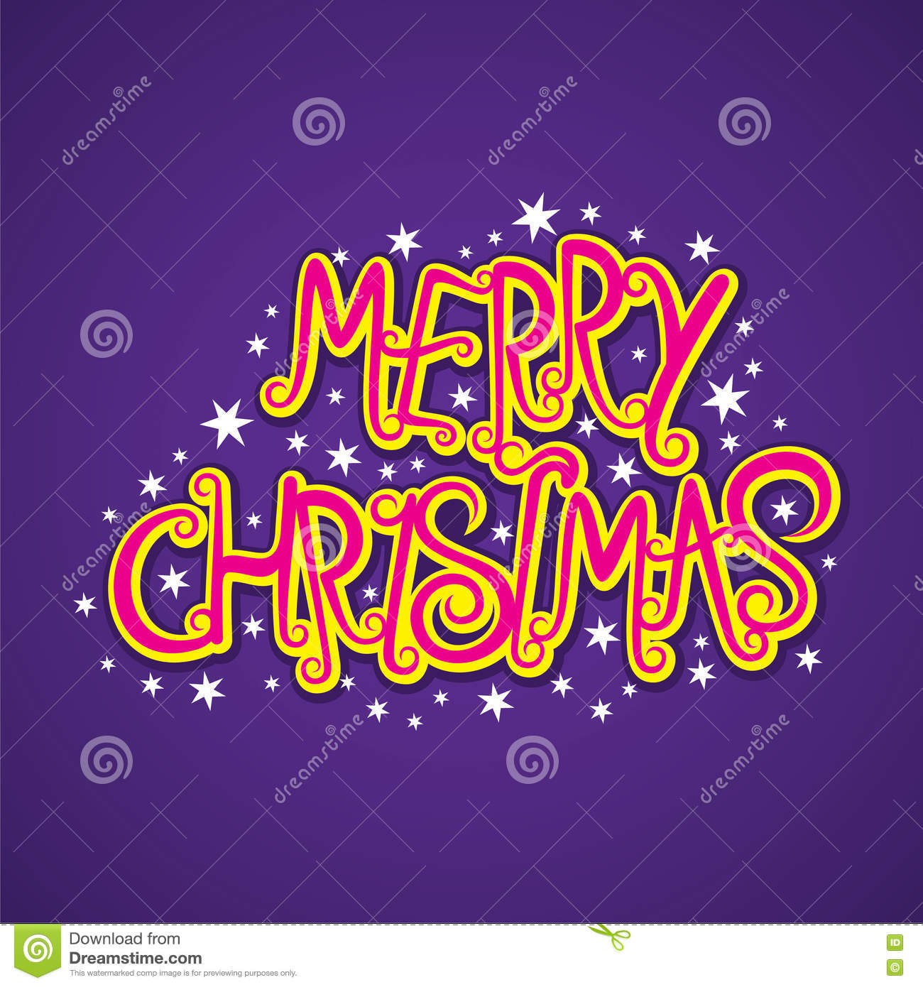 Merry Christmas Poster Design Stock Vector - Image: 79579767