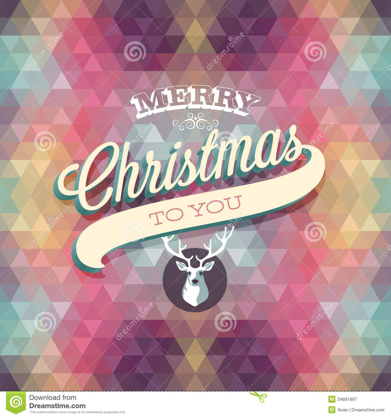 Merry Christmas Poster. Royalty Free Stock Photography - Image ...
