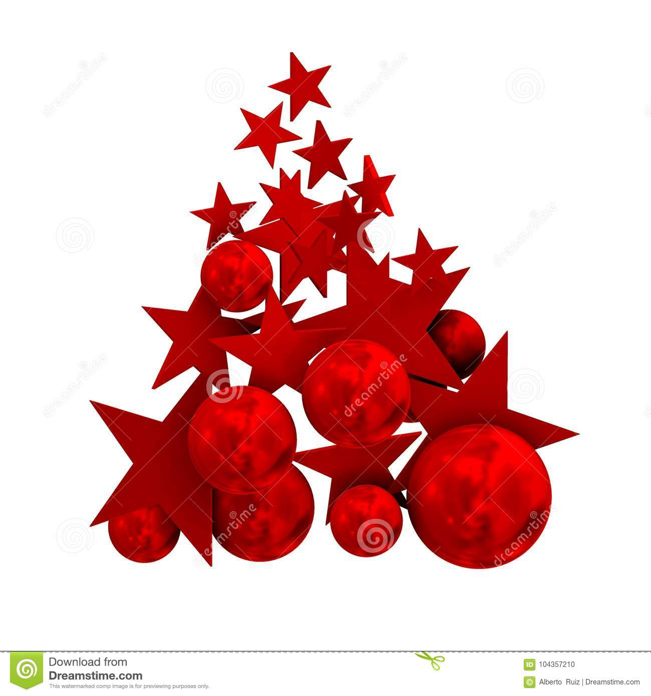 Merry Christmas With Red And Cool Tree Stock Illustration ...