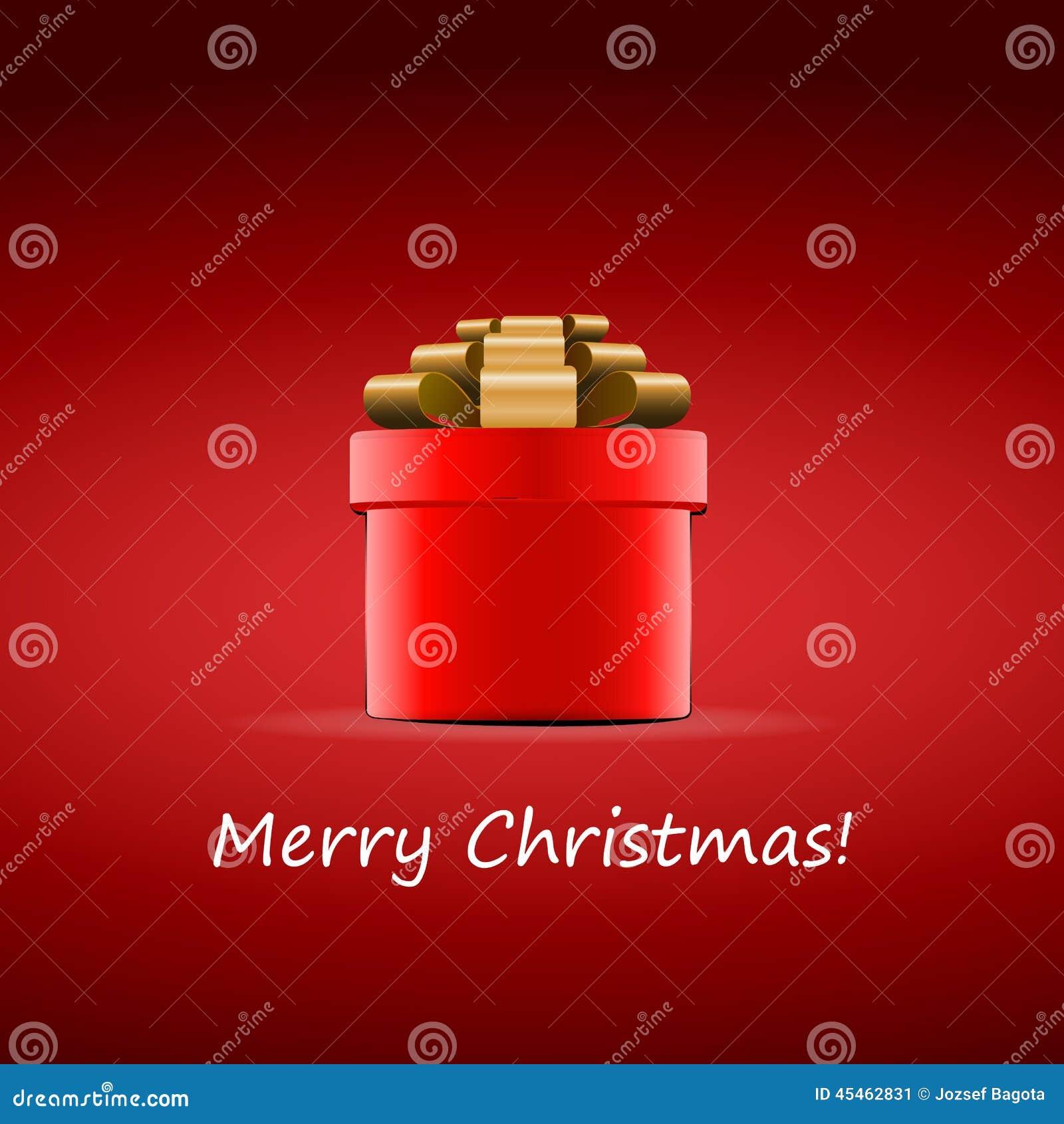 merry christmas - red gift box design for christmas stock image