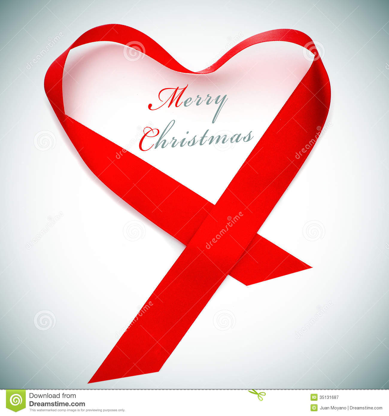 Merry christmas stock image of message heart
