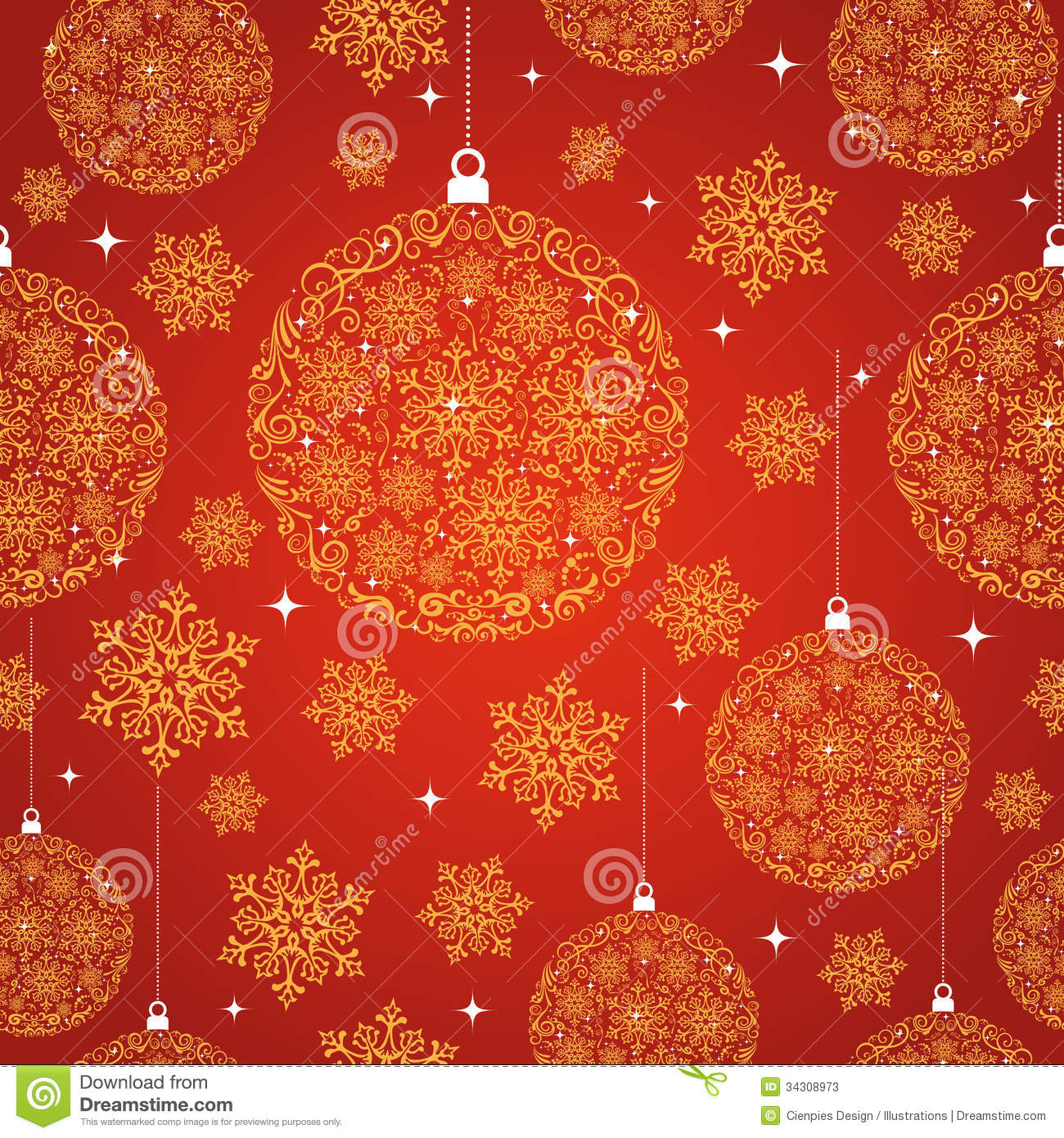 merry christmas red seamless pattern background stock