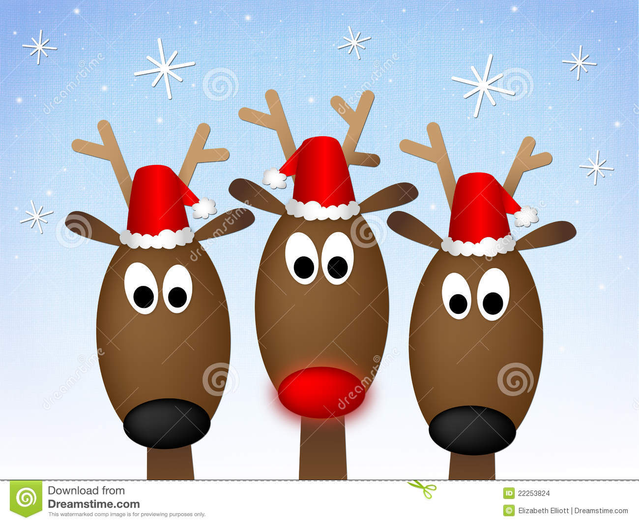 Merry Christmas Reindeer Stock Images - Image: 22253824