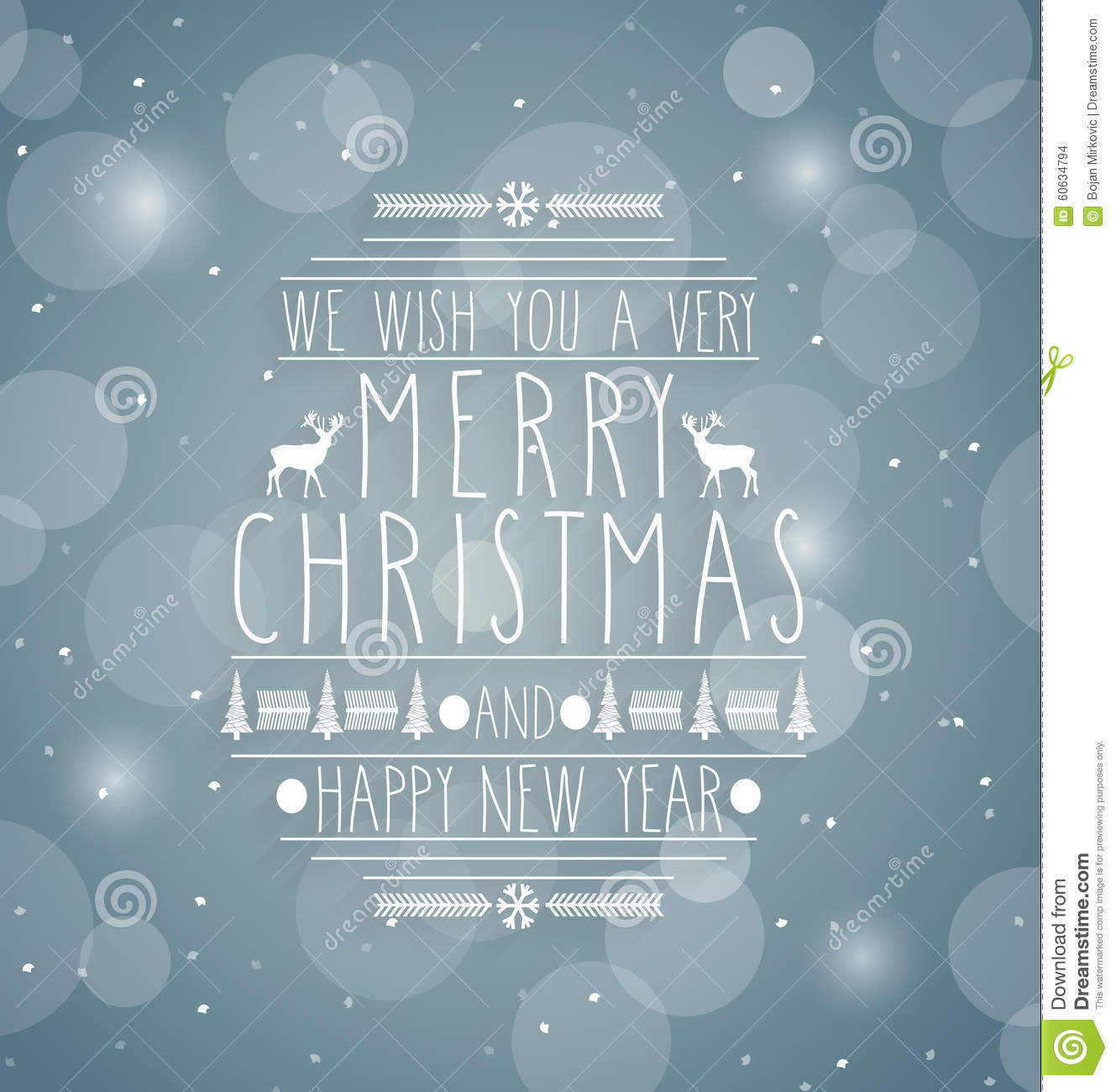 merry christmas retro abstract design greeting cardhandwritten text happy new year message