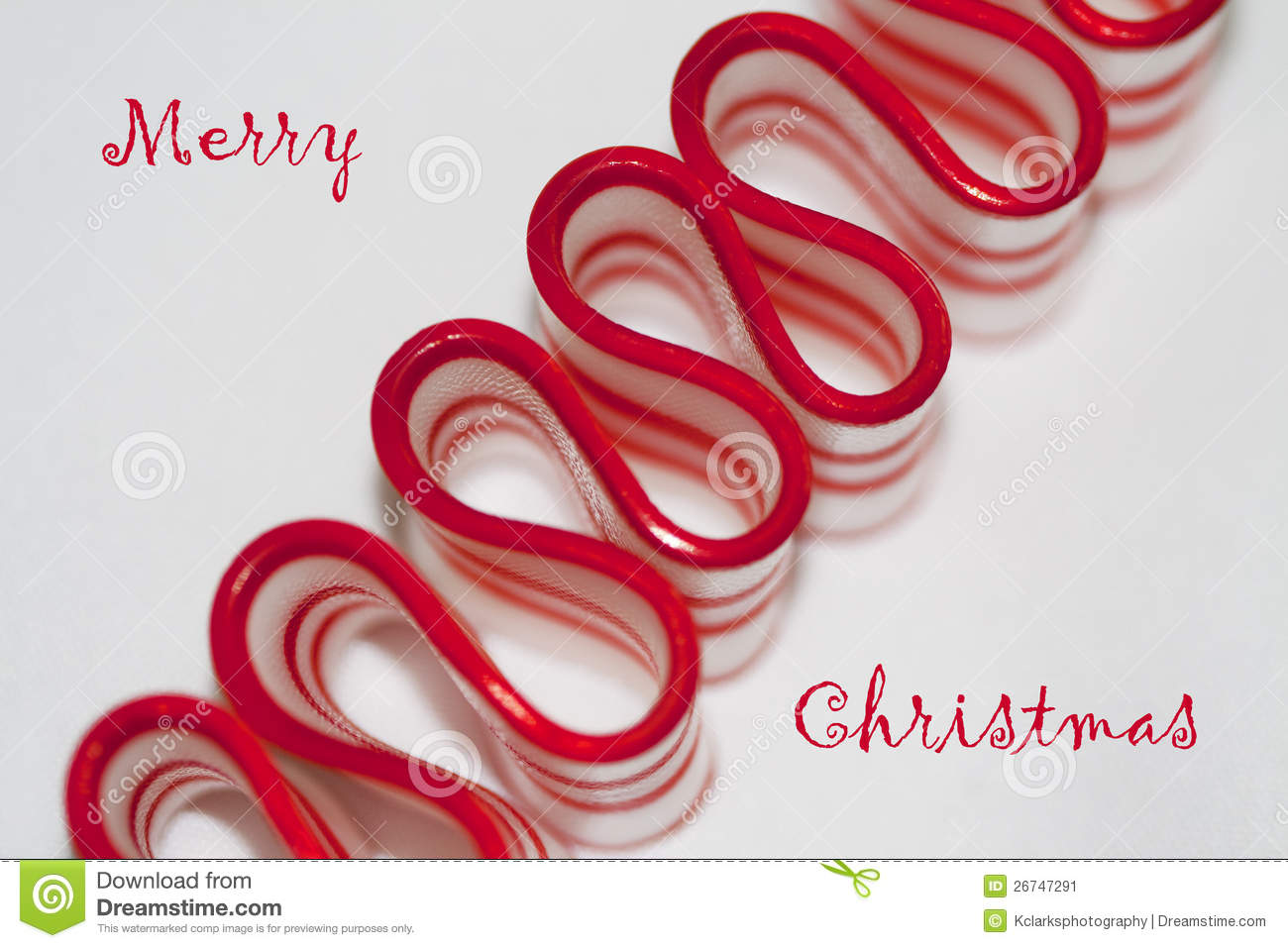 Merry Christmas Ribbon Candy Greeting Stock Image - Image of merry ...