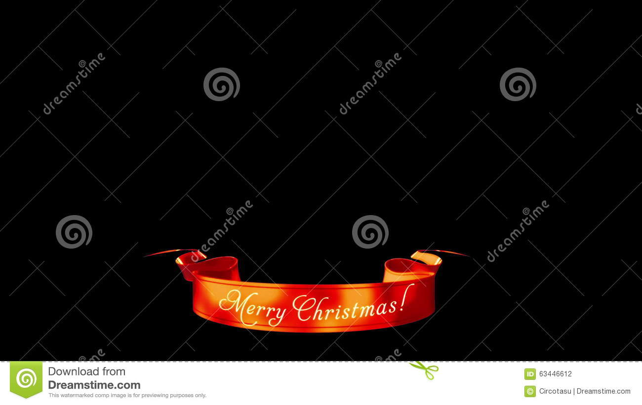 Merry Christmas Ribbon, Holiday Wishes Stock Footage - Video of ...