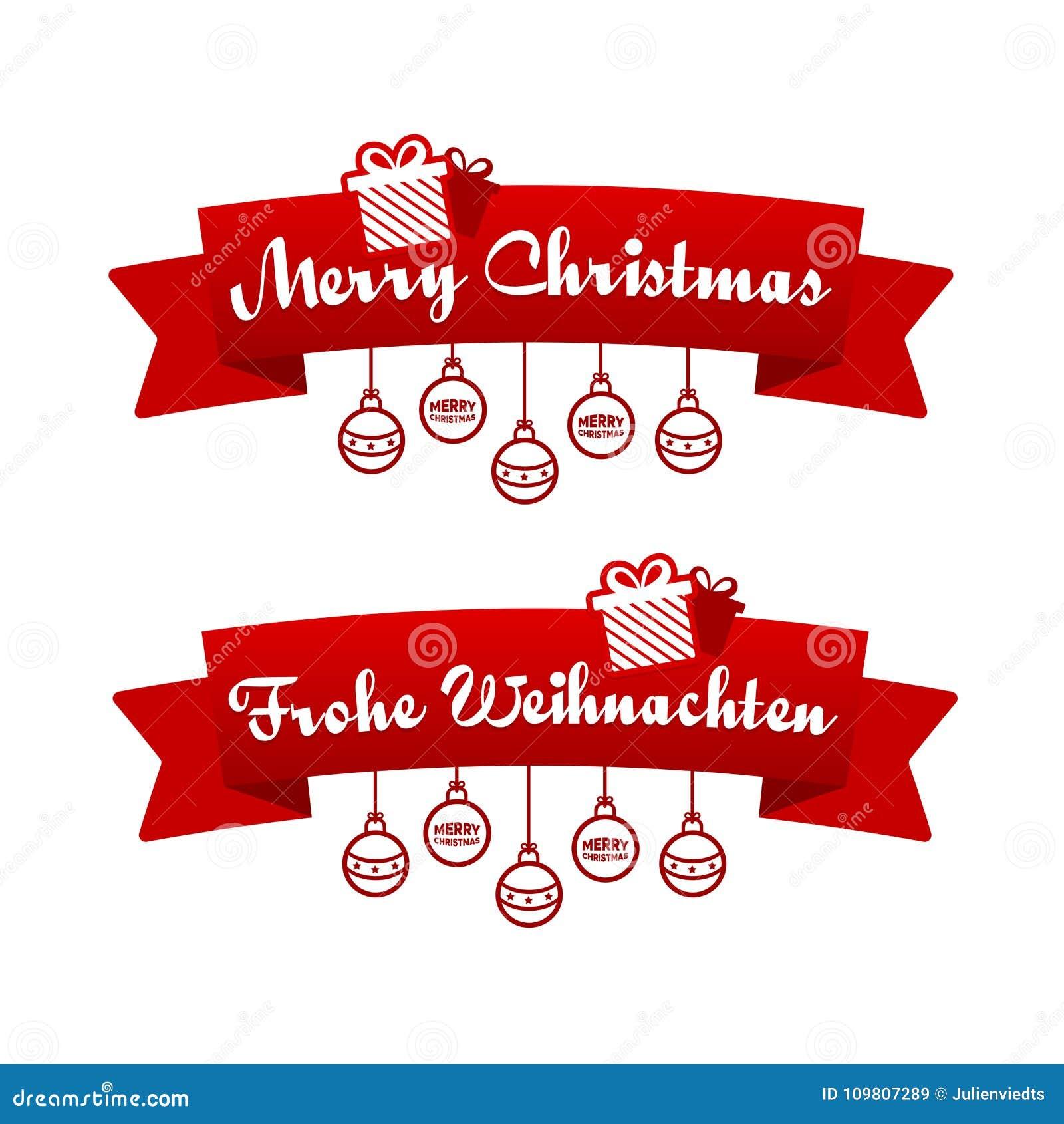 Merry Christmas Ribbon Clipart.Merry Christmas Ribbons Eps10 Vector Stock Vector