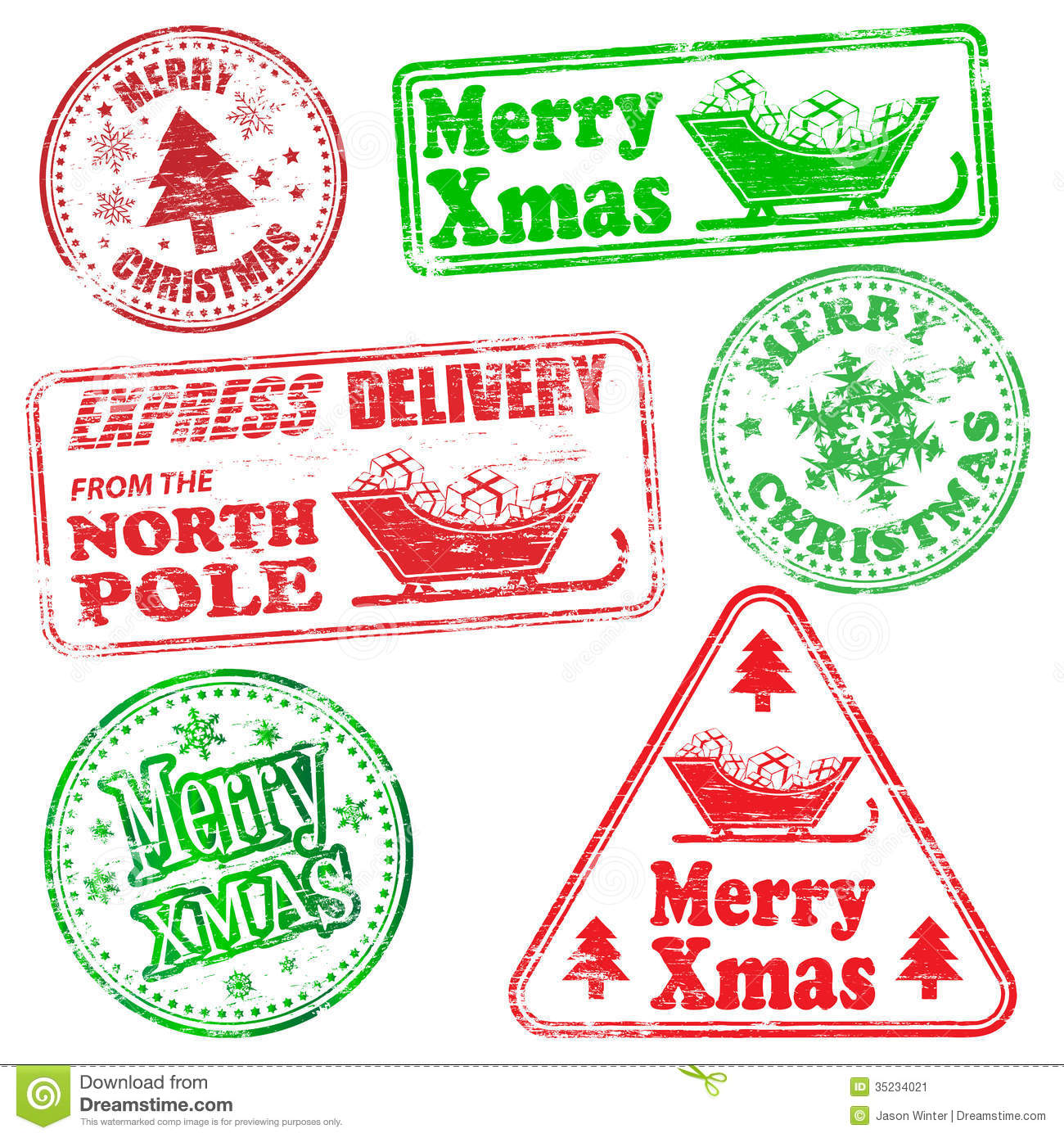 merry christmas rubber stamps - Christmas Stamp