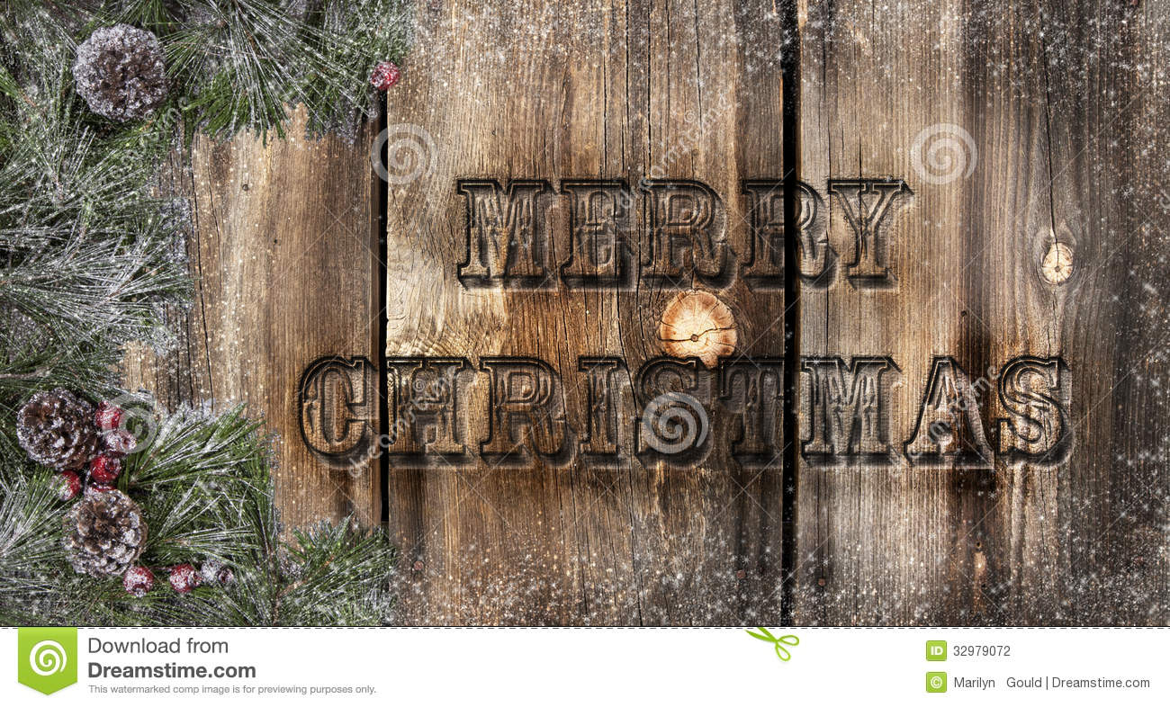 Merry Christmas Rustic Boards
