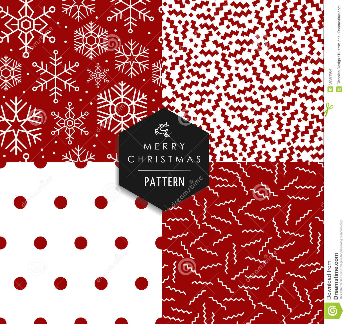 Universal Charging and Data Transmission line Christmas Time Seamless Pattern Vintage