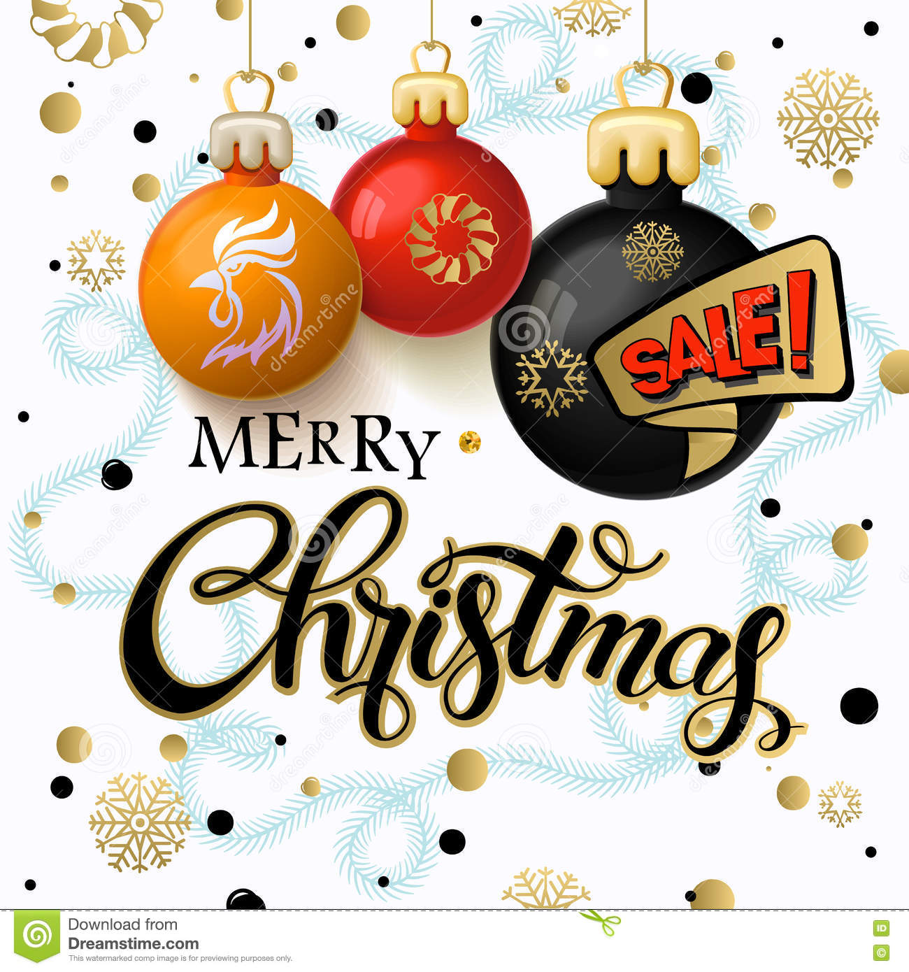 0d0c5c7e8096 Merry Christmas 2017 sale decoration poster card and Happy New year  background