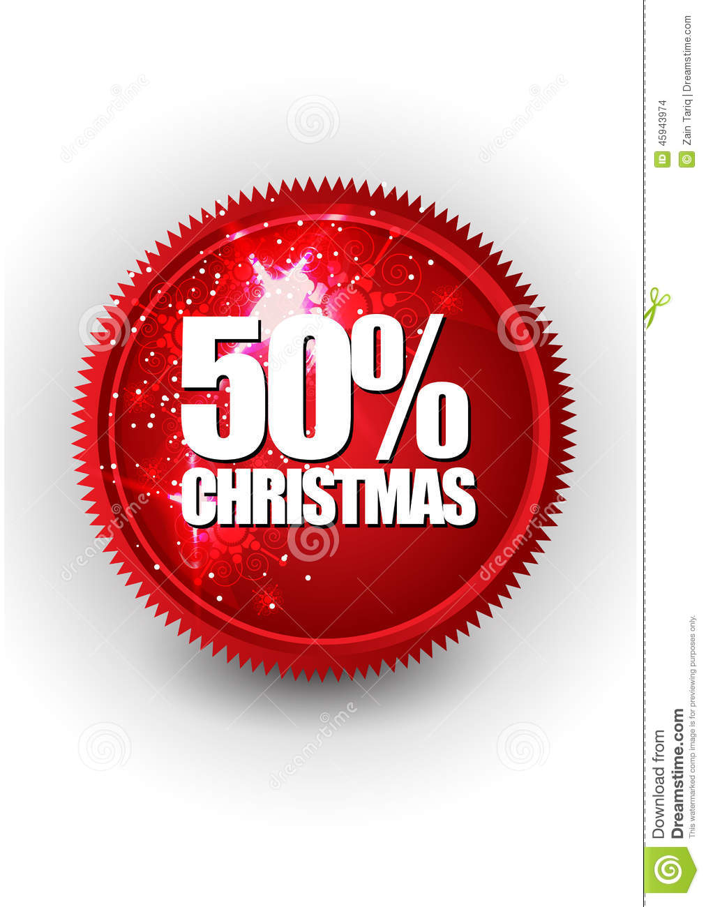 Merry Christmas Sale Or Discount Banner Stock Vector - Illustration ...