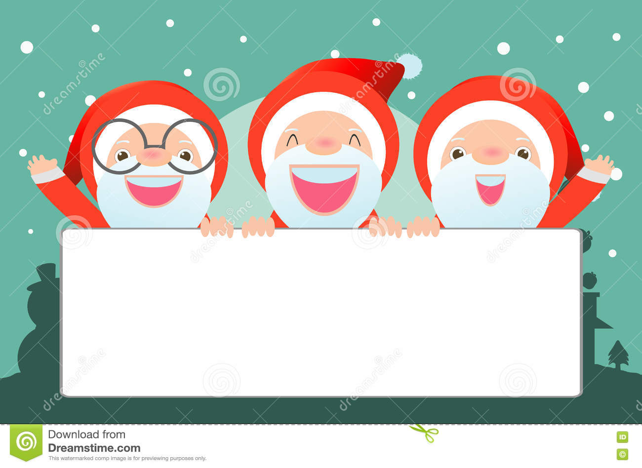 Merry Christmas, Santa Claus,Template For Advertising Brochure,your ...