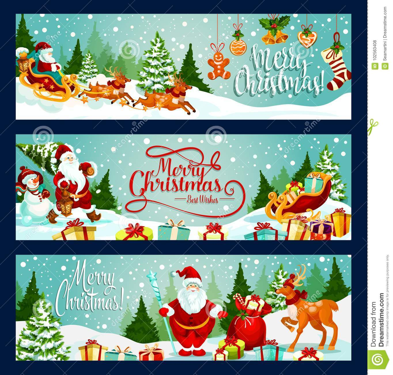 Winter Holiday Banners Lover Banners