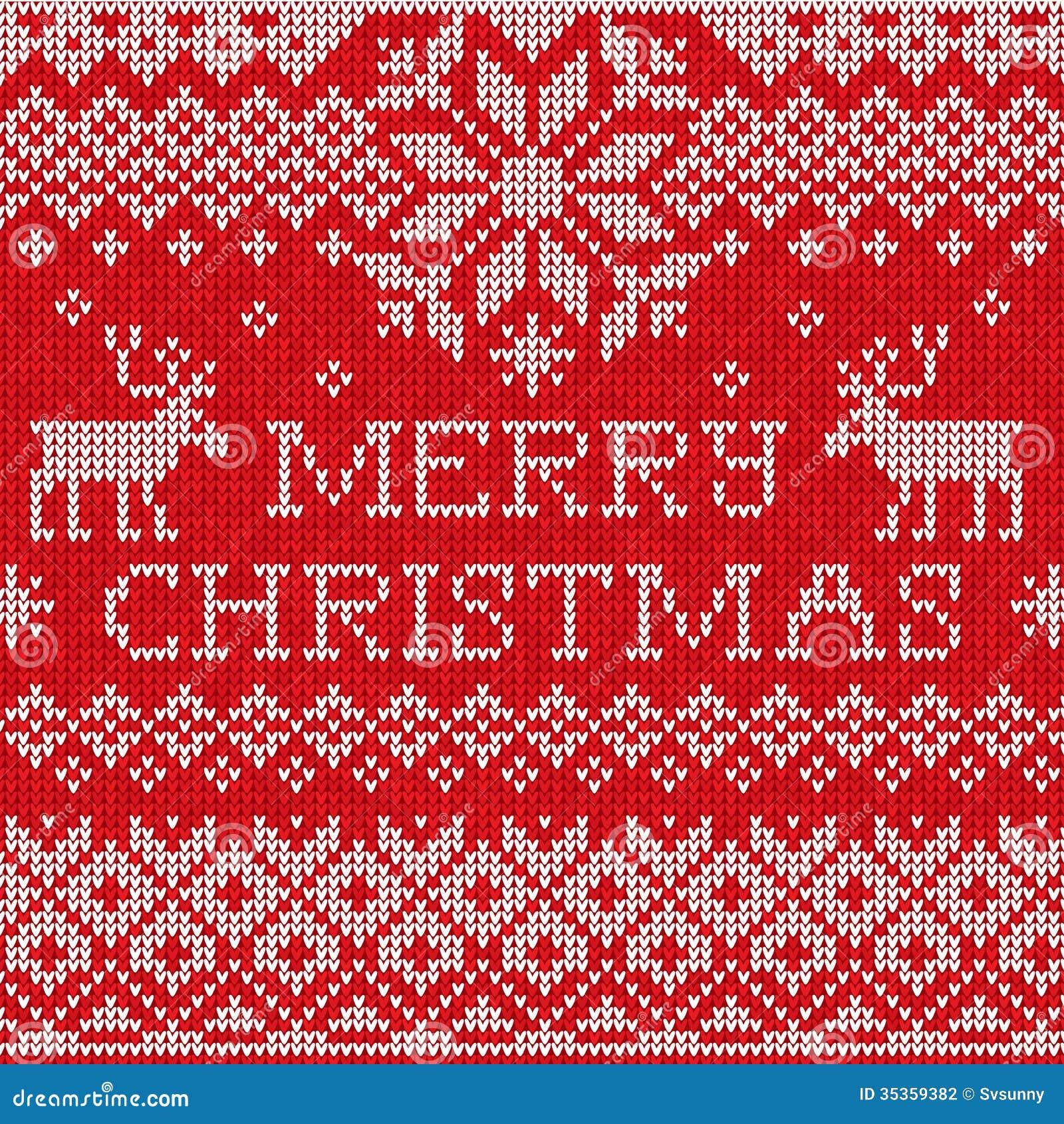 Merry Christmas: Scandinavian Style Seamless Knitted ...