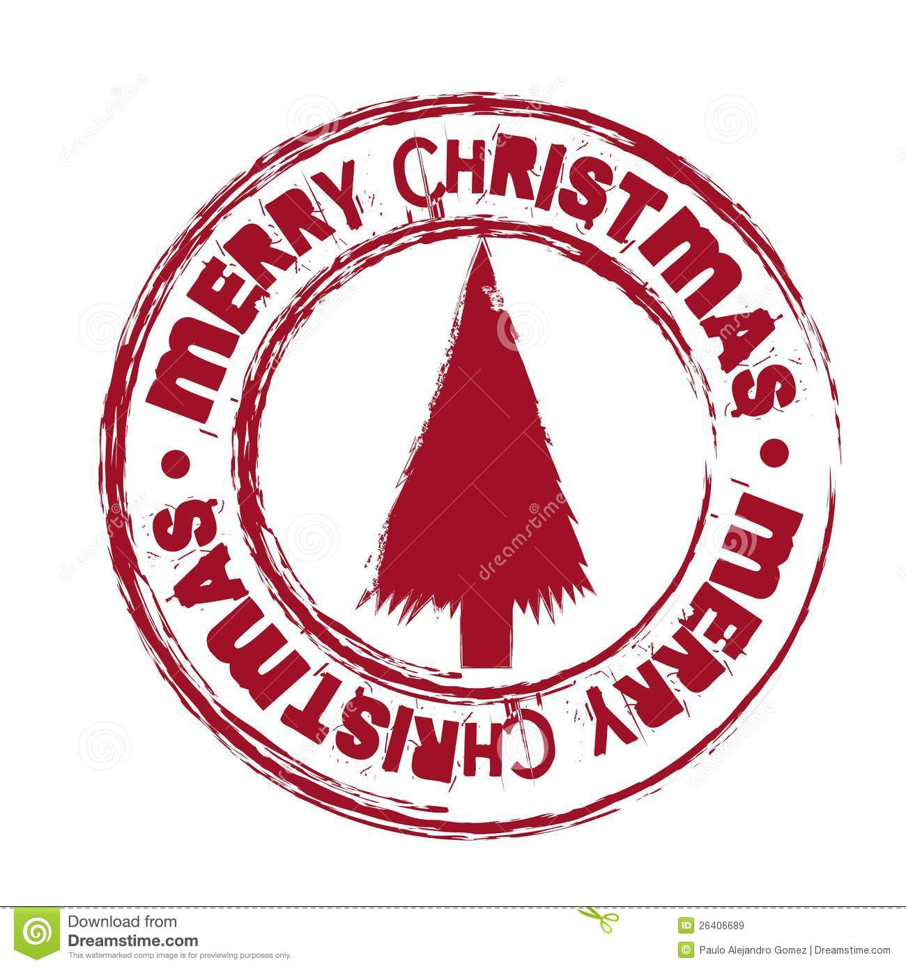 Merry christmas seal royalty free stock images image