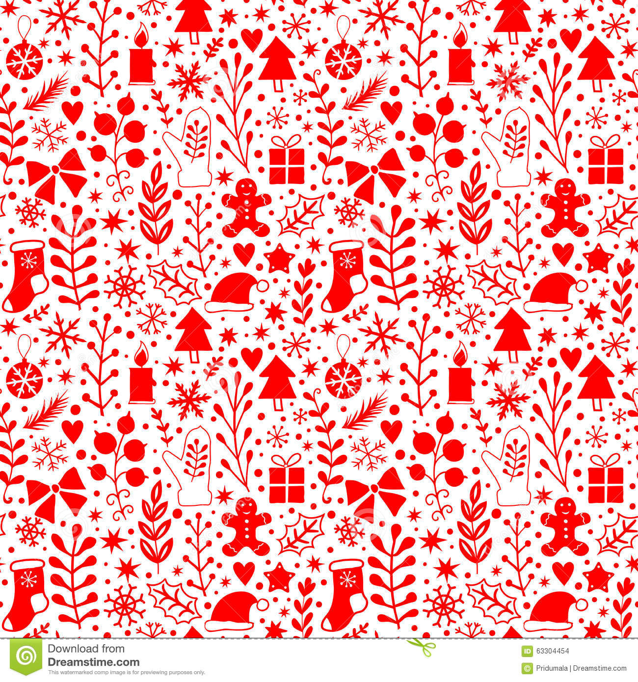 merry christmas seamless pattern happy new year background wrapping paper texture silhouette