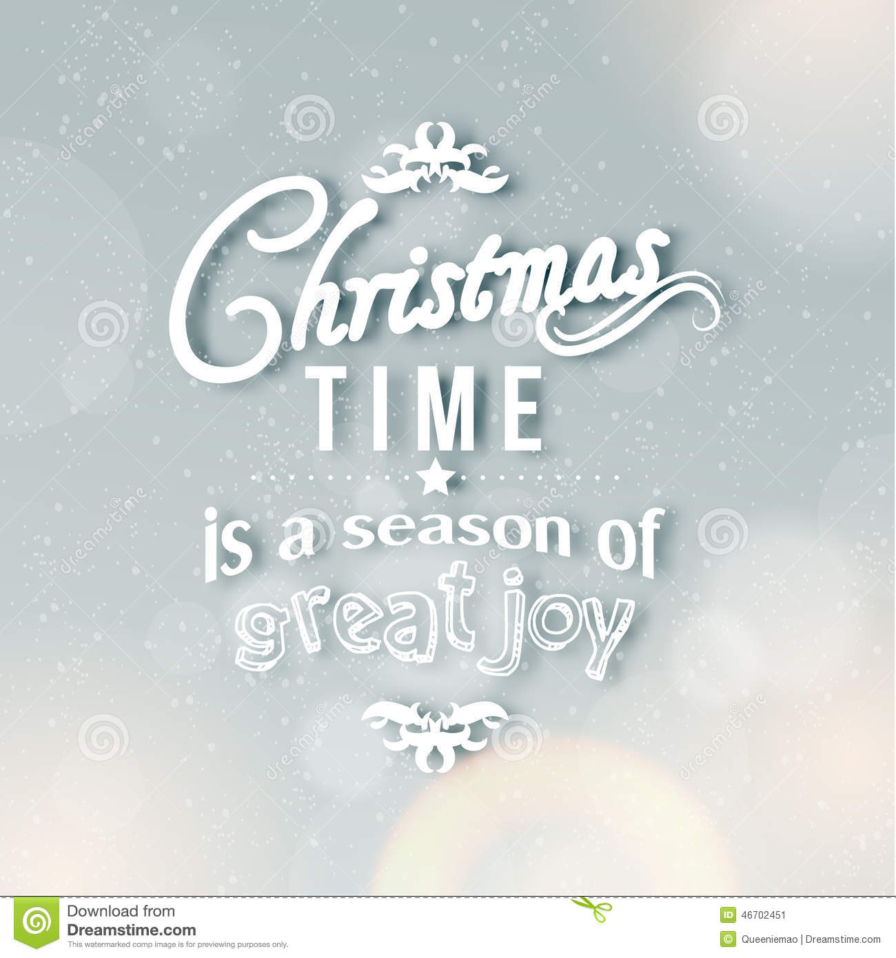 Merry Christmas Season Greetings Quote Stock Illustration